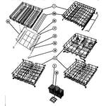 Thermador 600 basket assemblies diagram