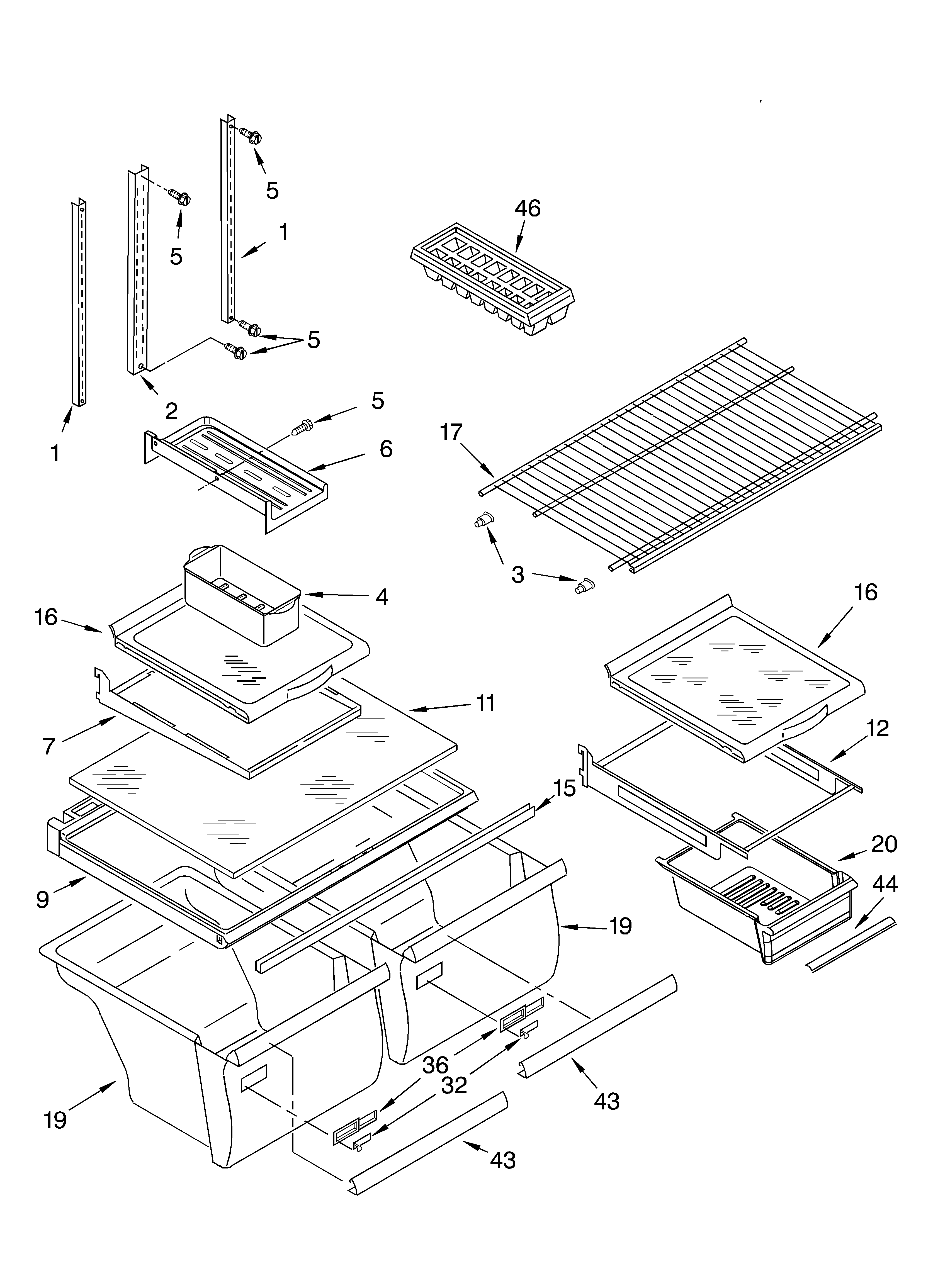Whirlpool GR2SHKXKB01 shelf diagram