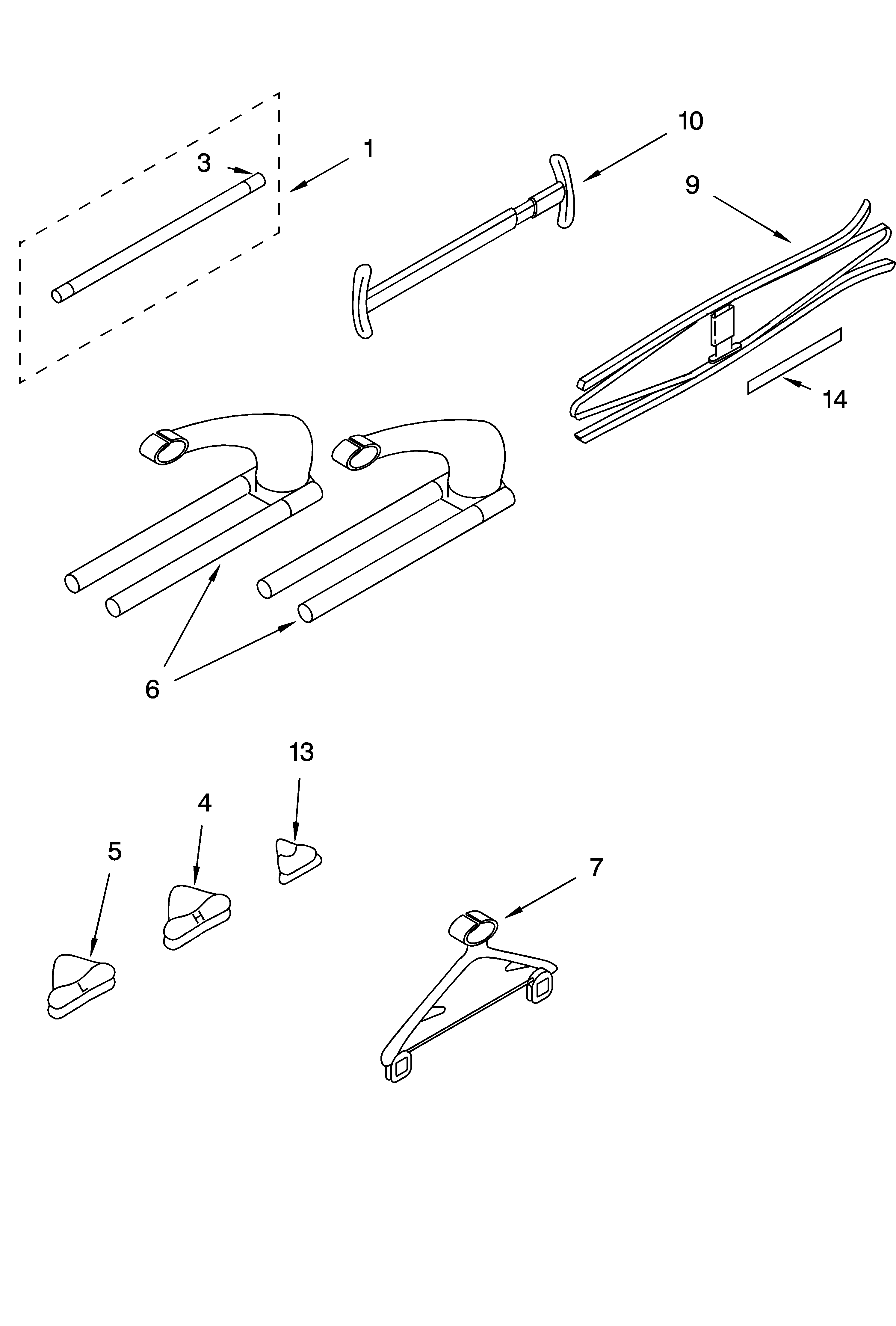 Whirlpool PVWN600LW1 accessory parts diagram