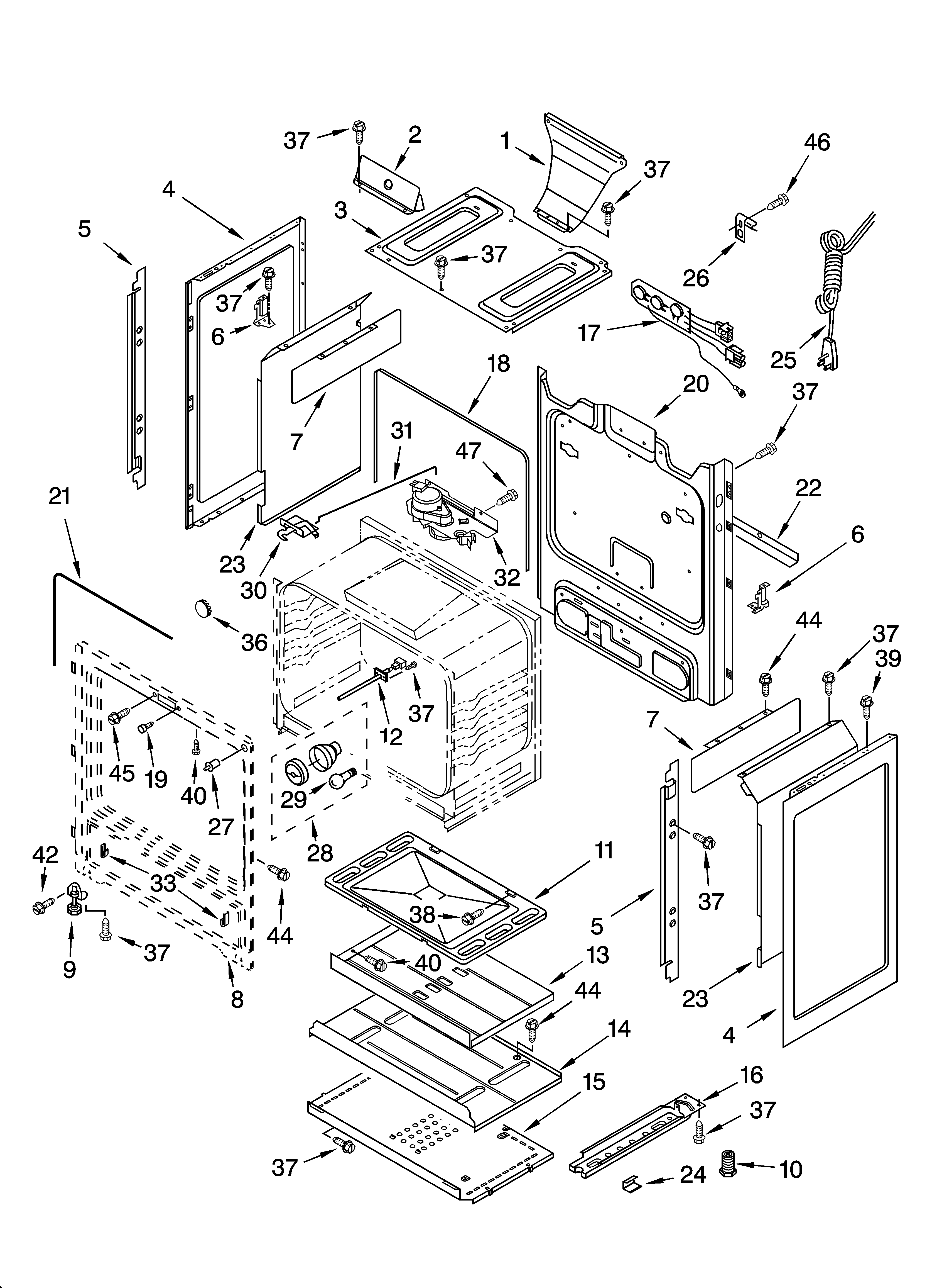 Whirlpool GS440LEMQ1 chassis parts diagram