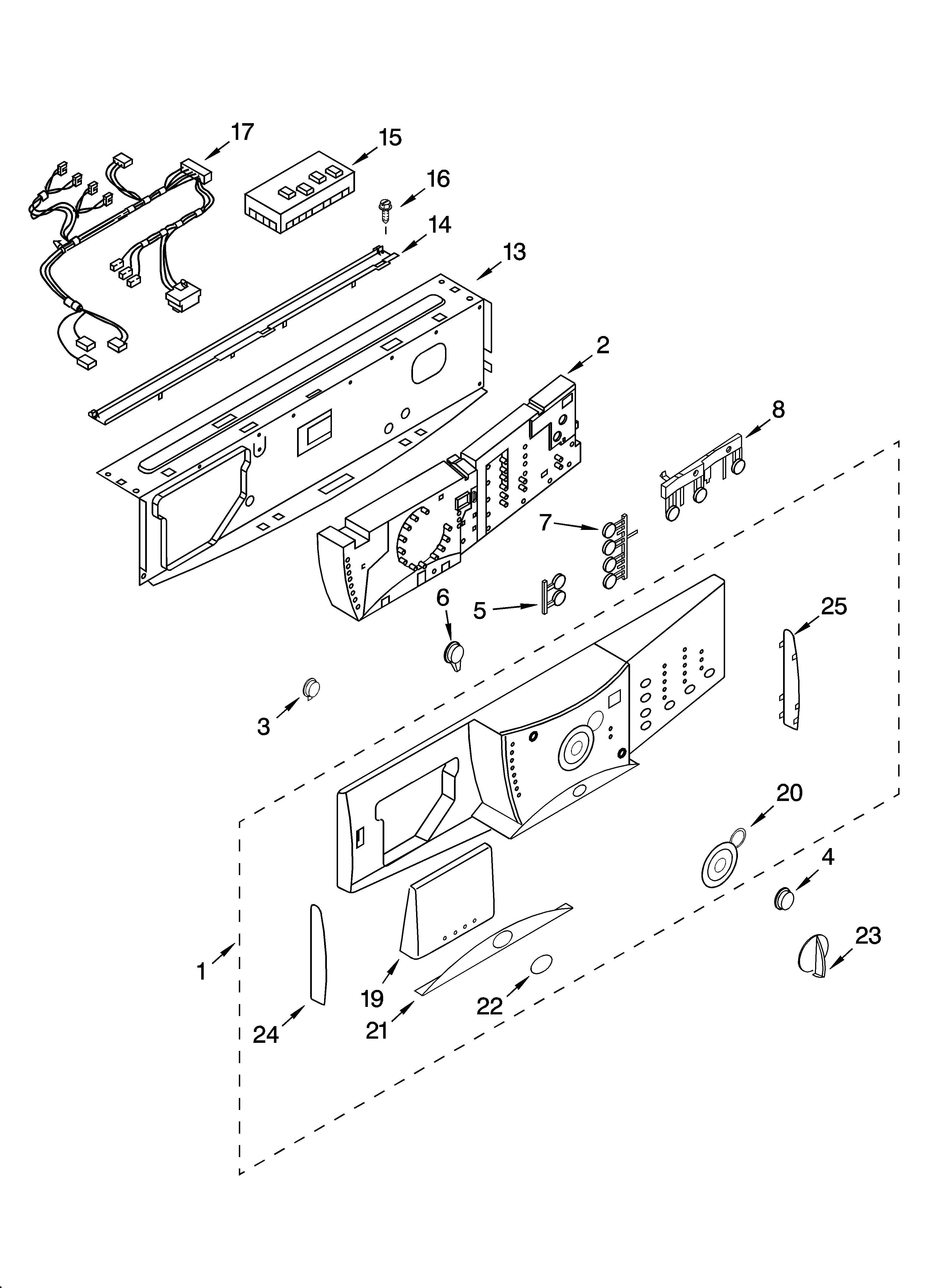 Whirlpool GHW9460PL3 control panel parts diagram