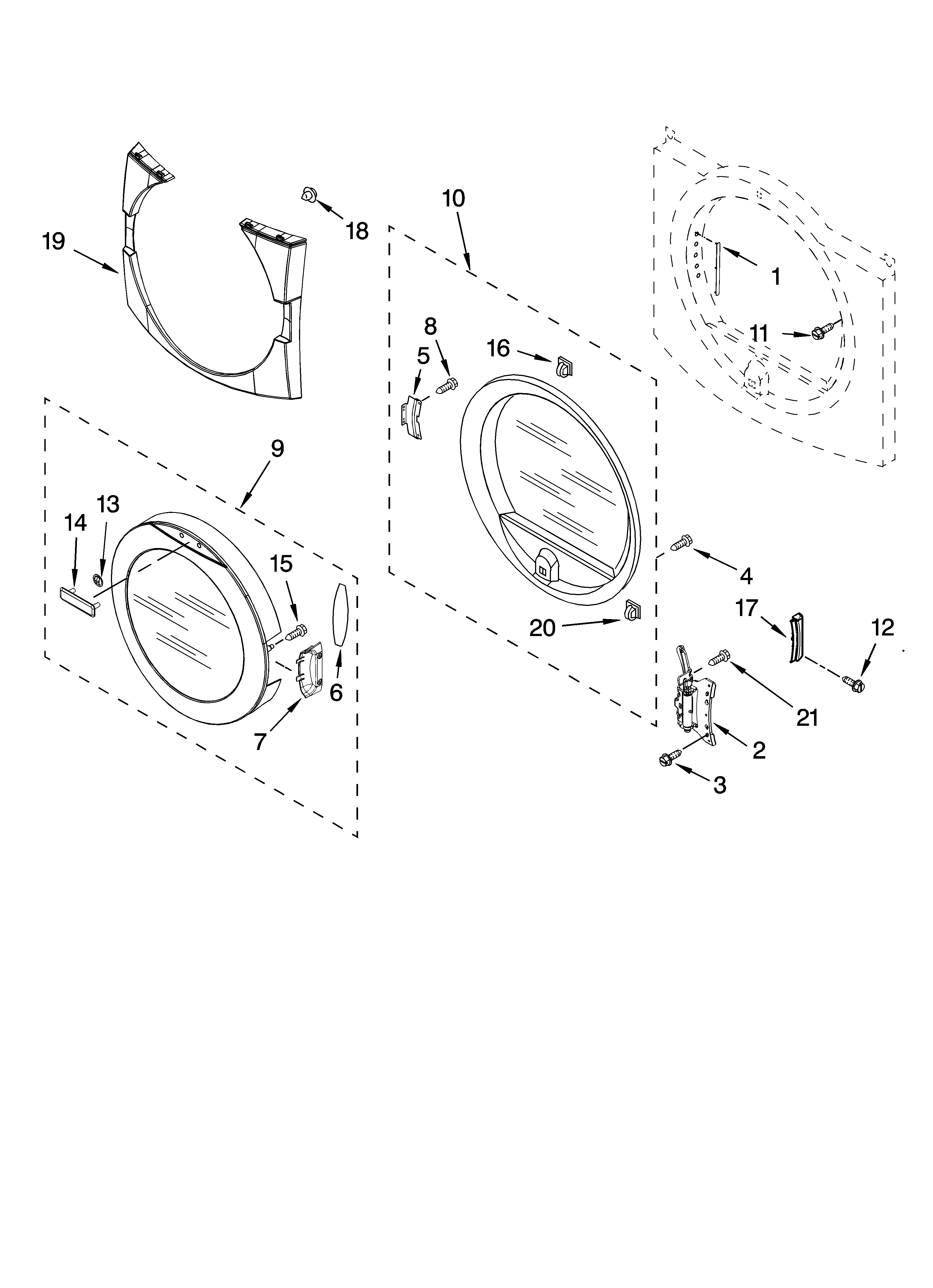 Maytag MED9600SQ0 door parts, optional parts (not included) diagram