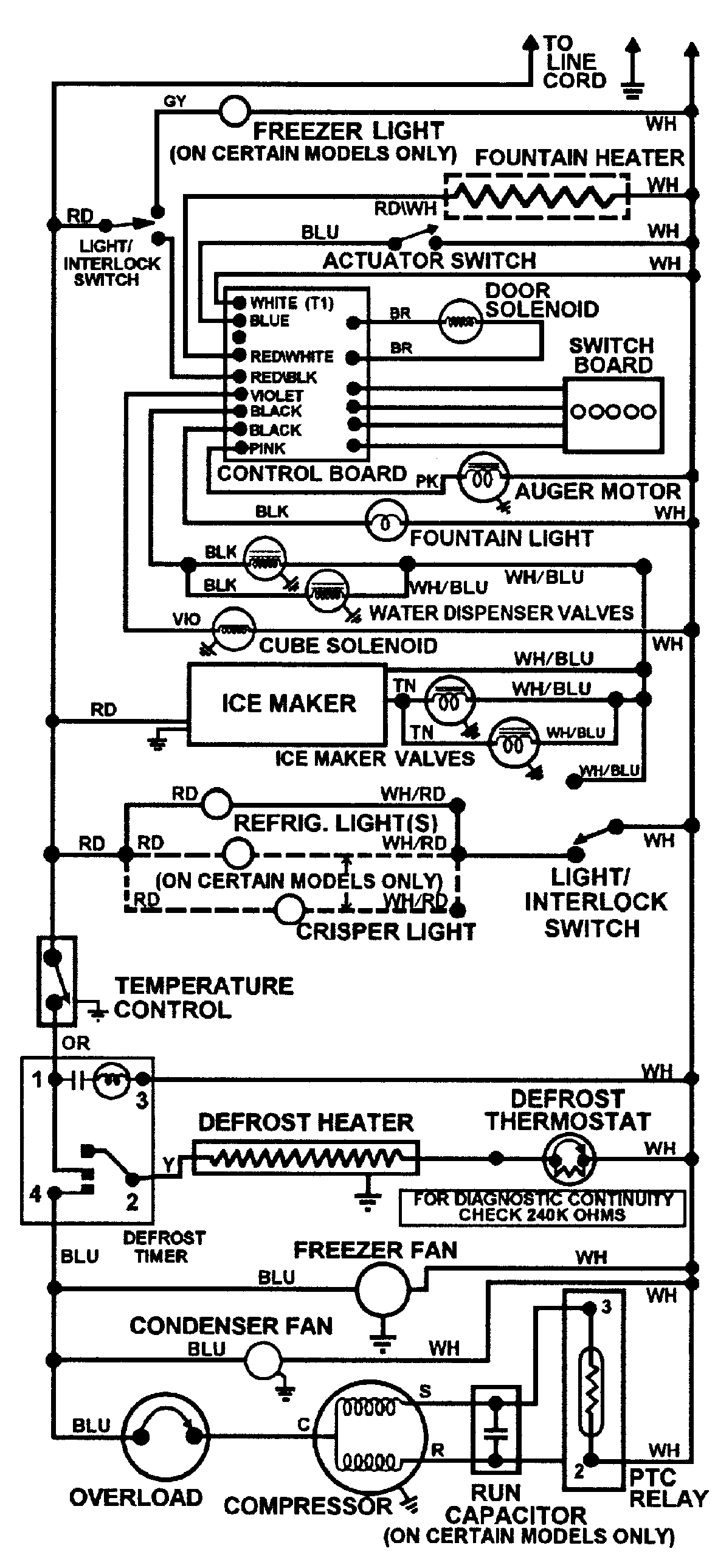 Maytag  Refrigerator  Wiring information