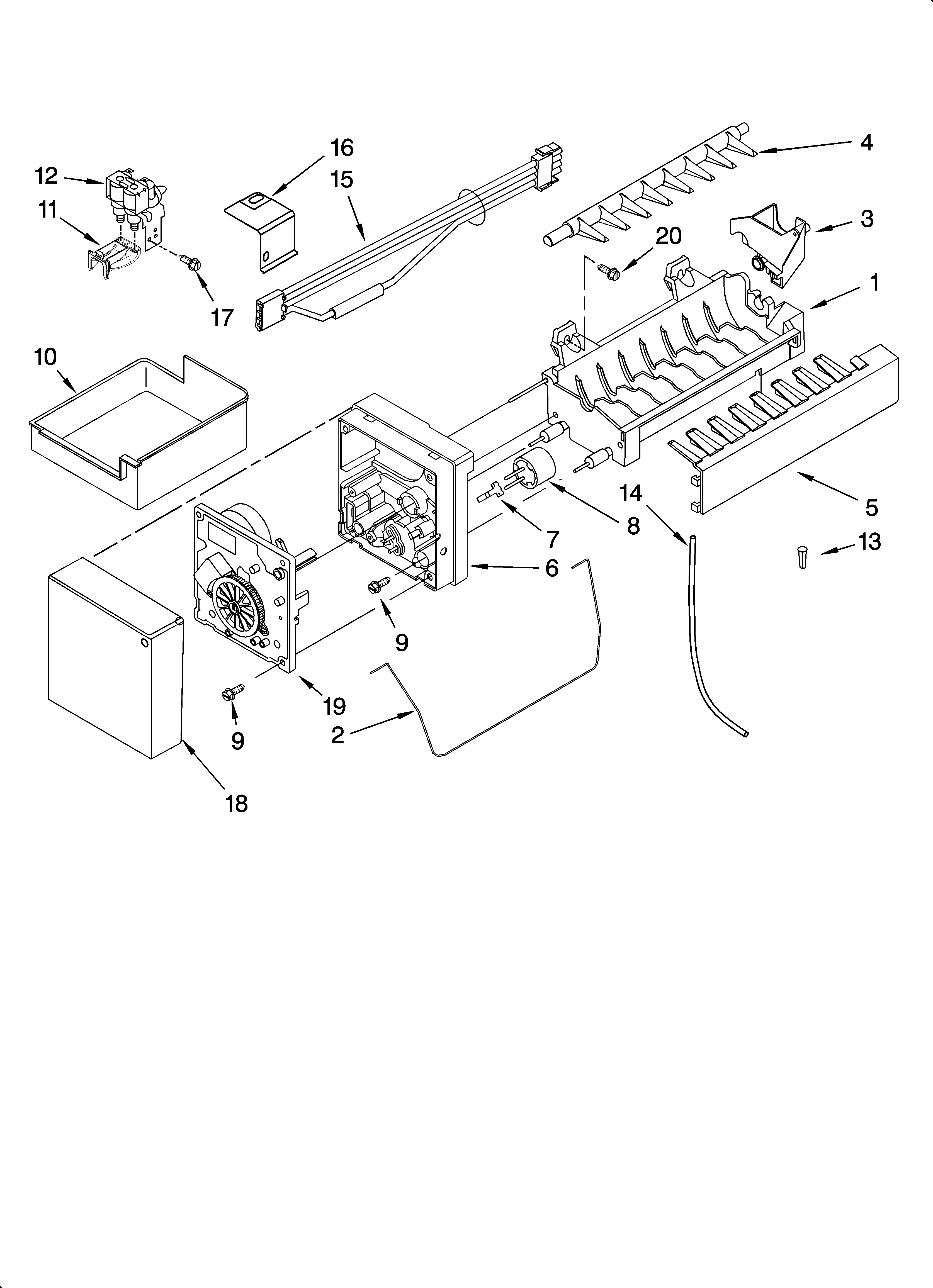 Whirlpool GX5SHTXTQ00 icemaker parts, optional parts (not included) diagram