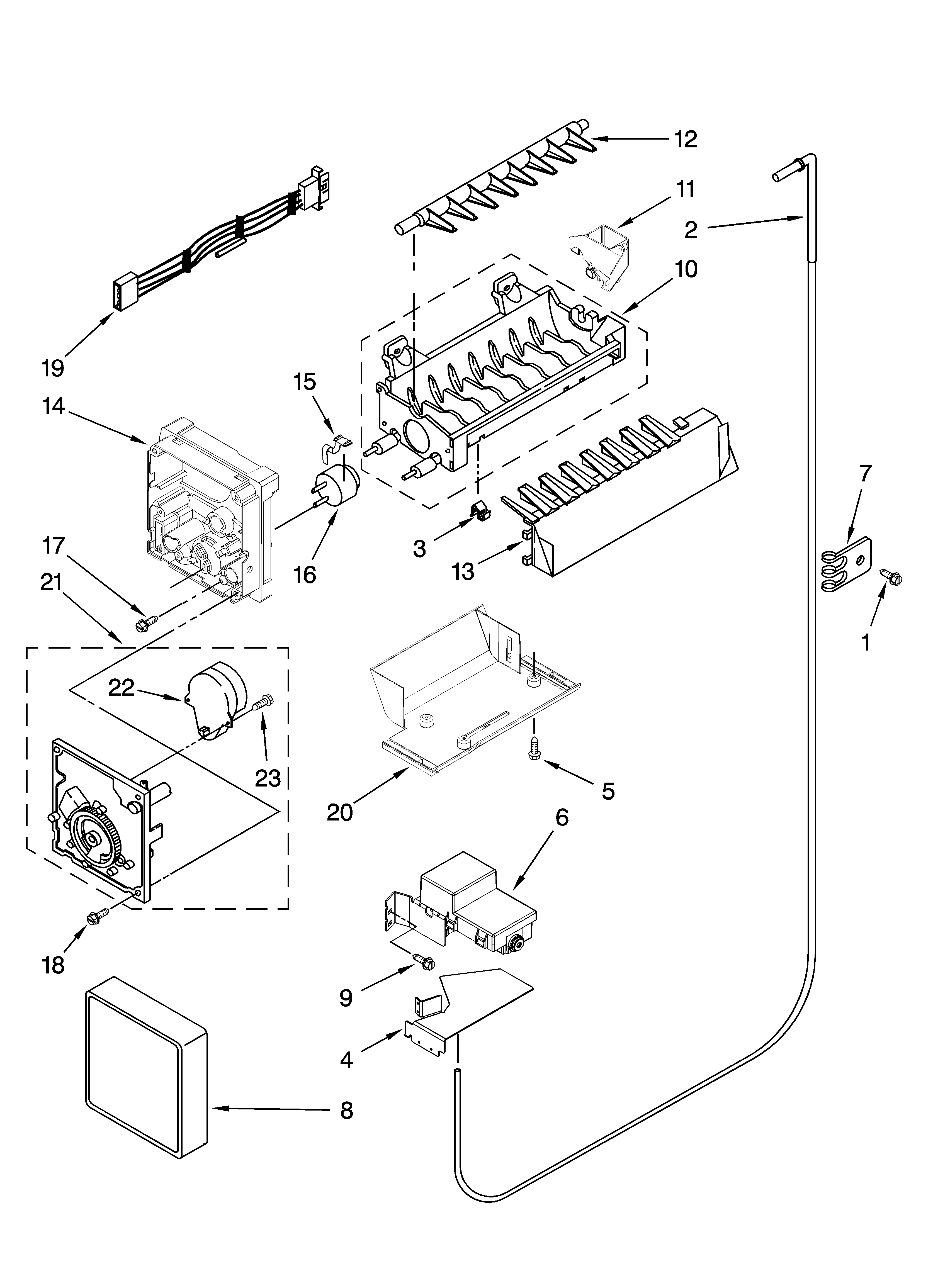 KitchenAid KSCS23FTWH02 icemaker parts, optional parts (not included) diagram