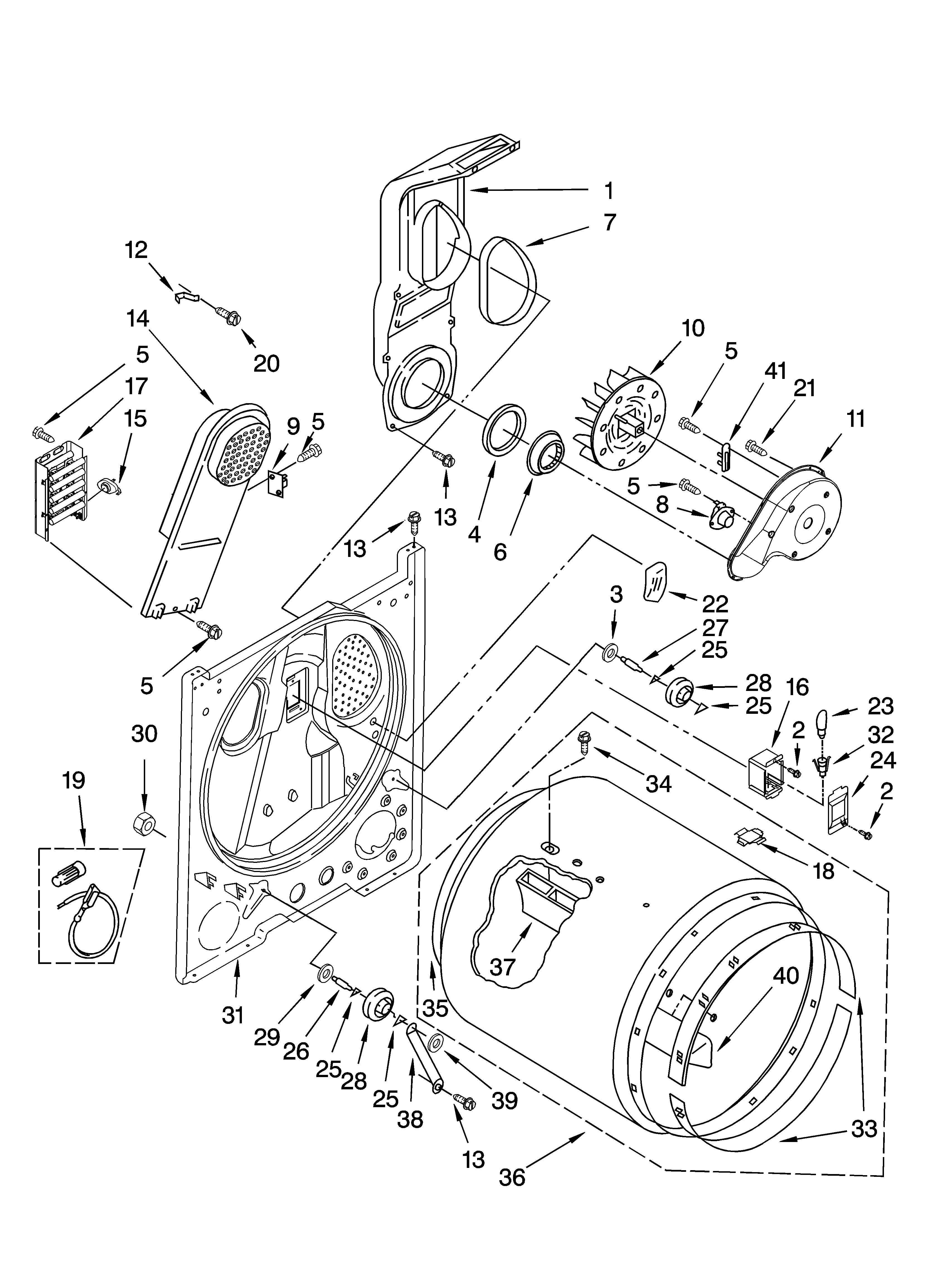 Maytag MED5820TW0 bulkhead parts, optional parts (not included) diagram