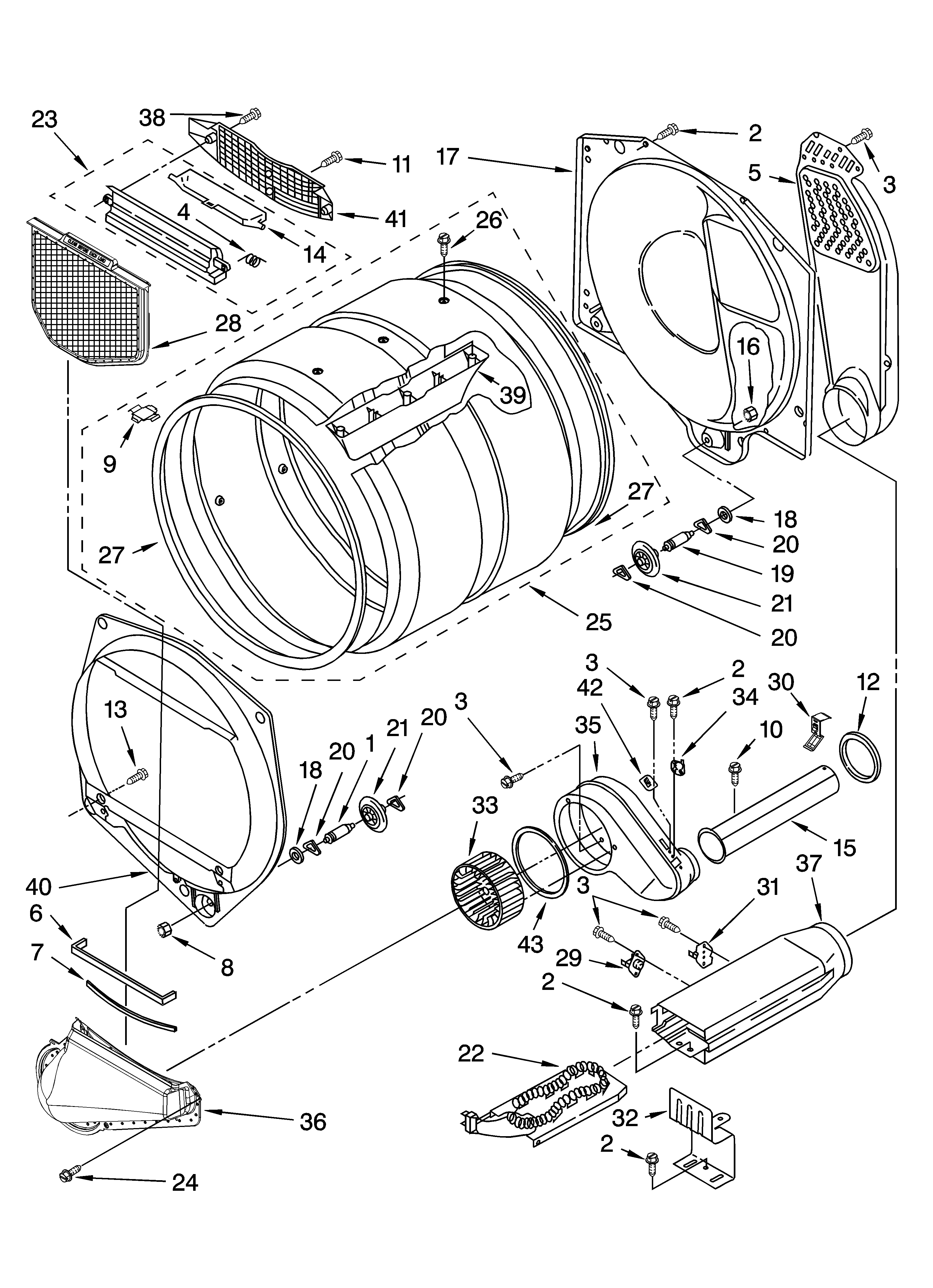 Whirlpool 3XWED5705SW0 bulkhead parts, optional parts (not included) diagram