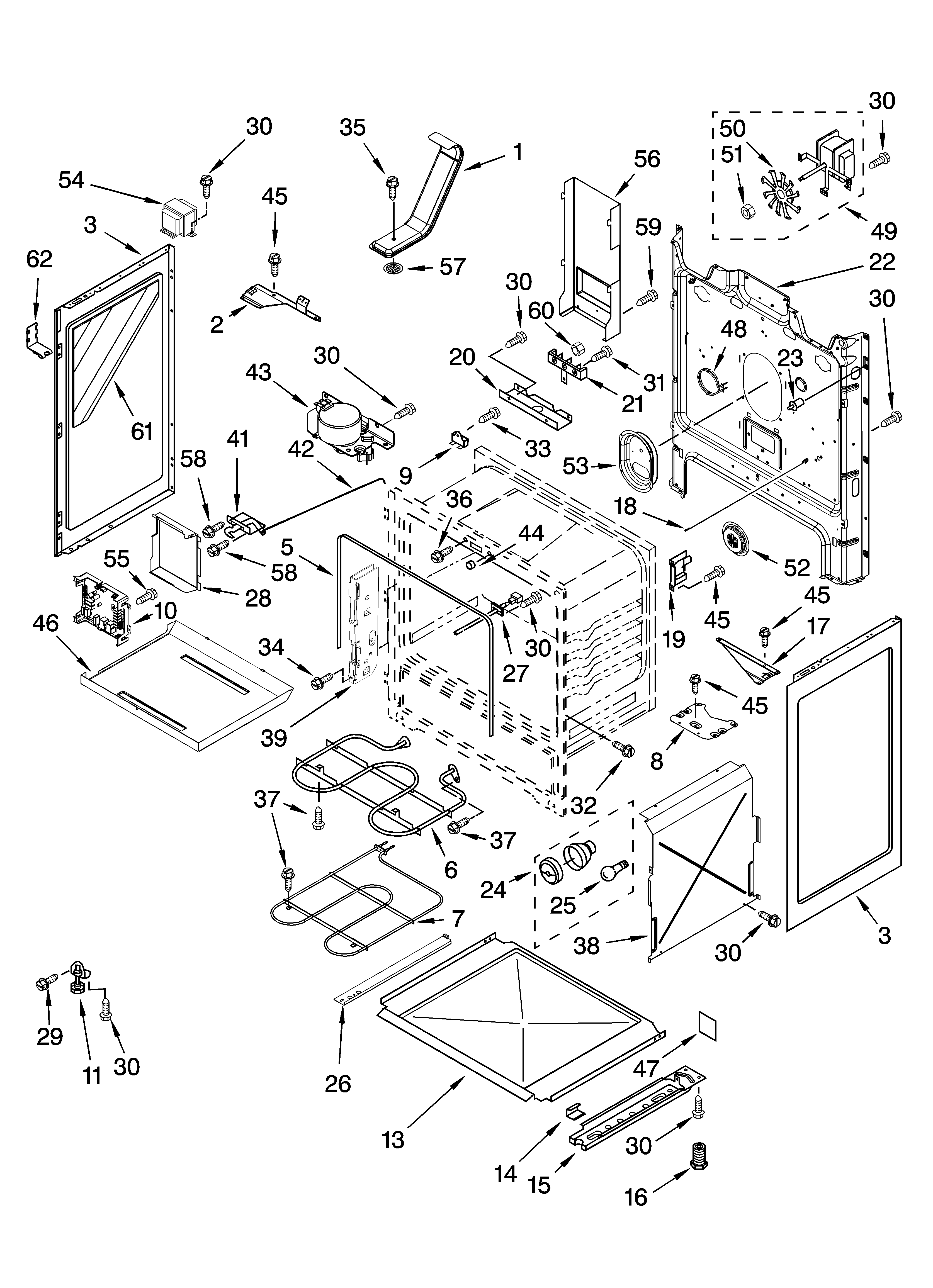 Whirlpool GR773LXSB2 chassis parts diagram