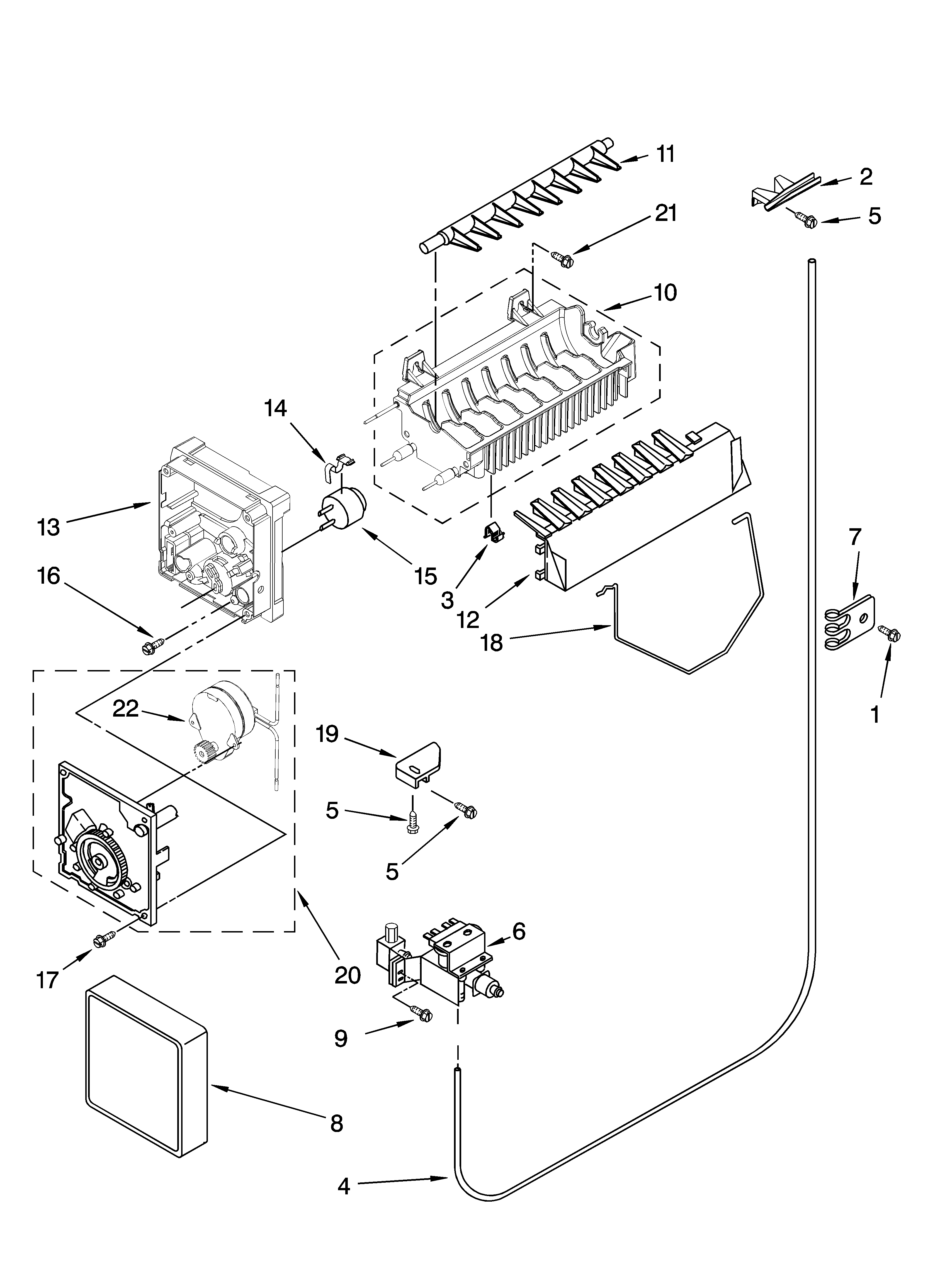 icemaker parts  optional parts  not included  diagram  u0026 parts list for model ed5kvexvb00