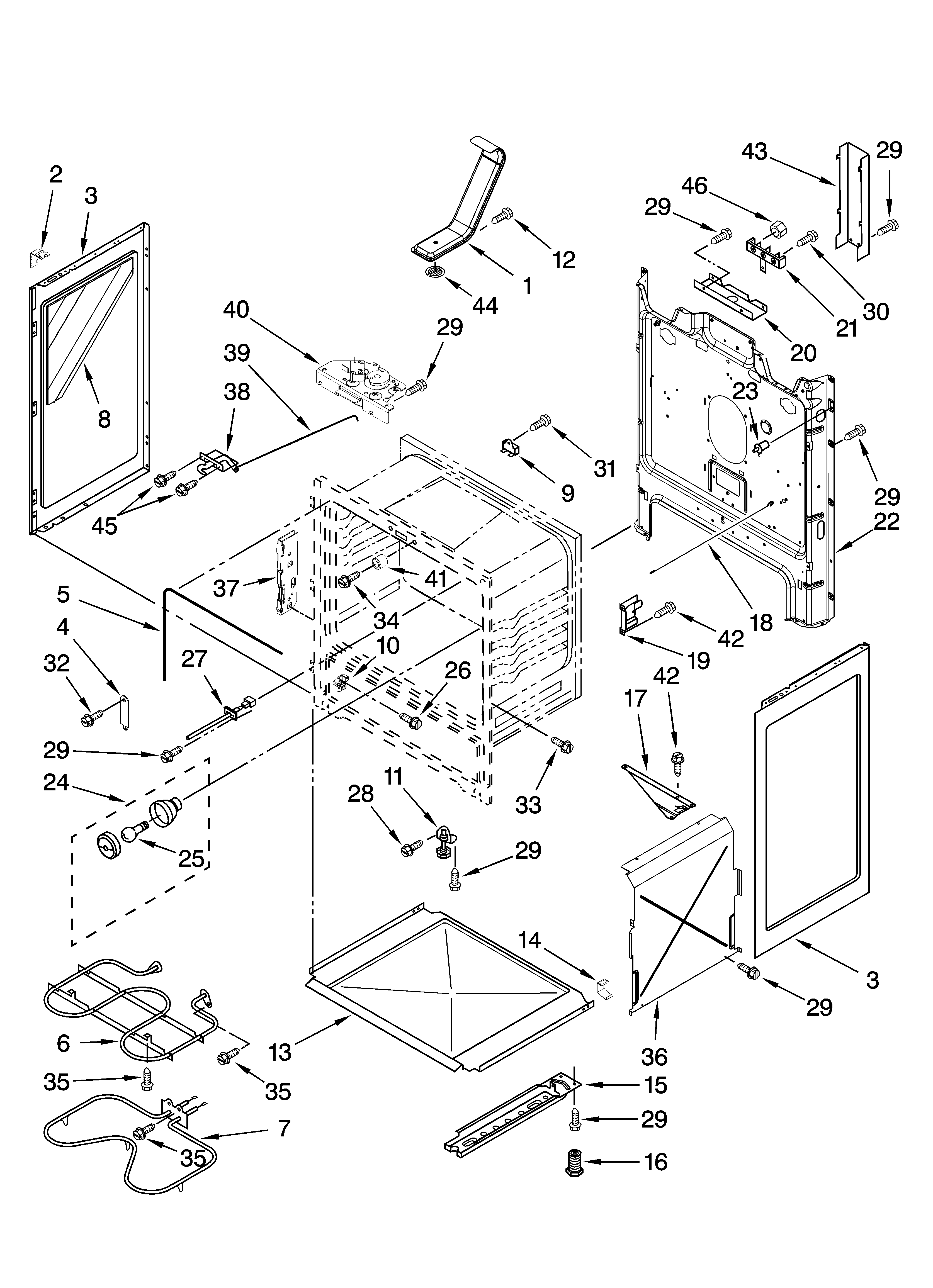 Amana AER5830VAW0 chassis parts diagram