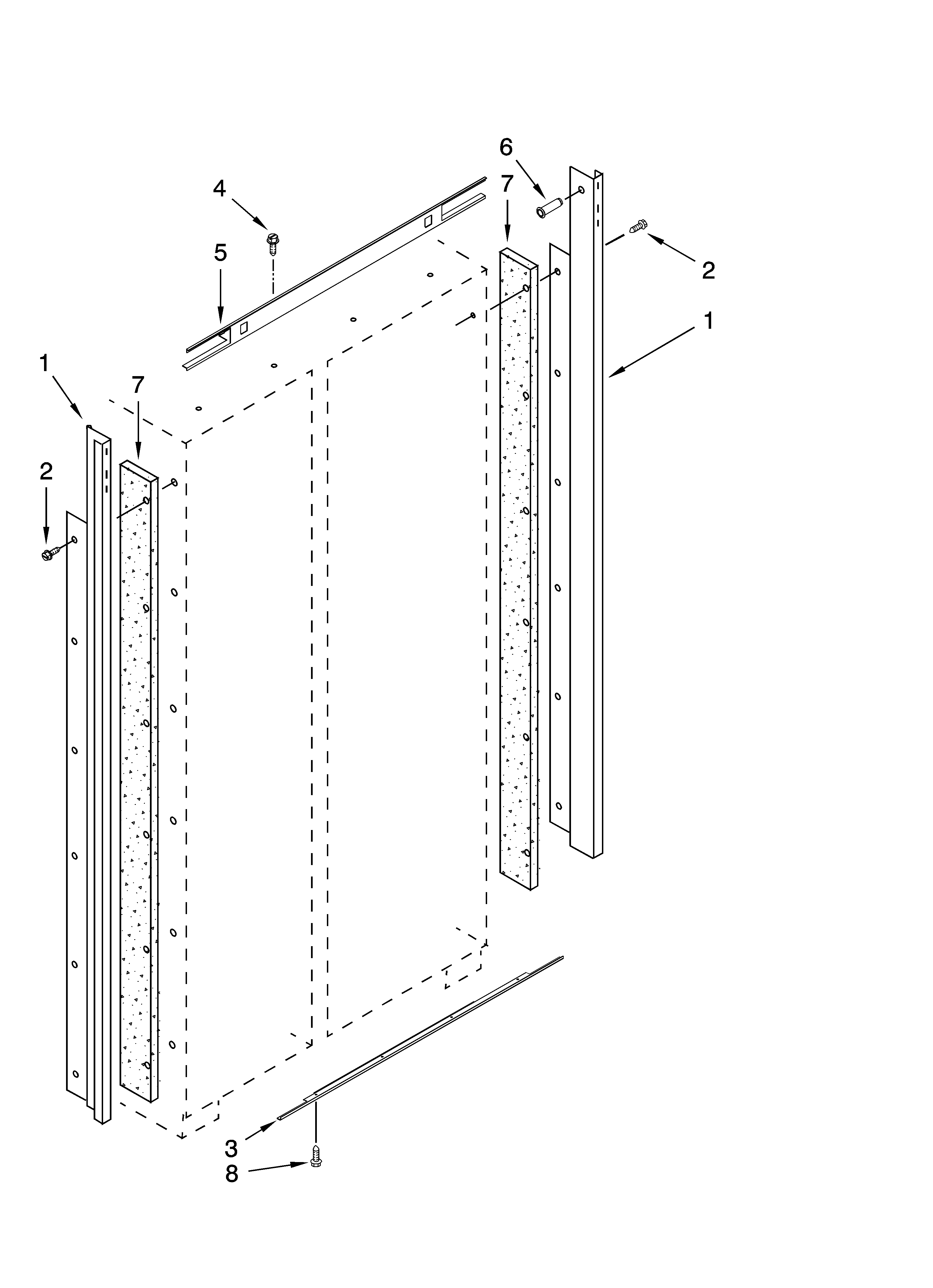 Jenn-Air  Built-In Side By Side Refrigerator  Cabinet trim parts