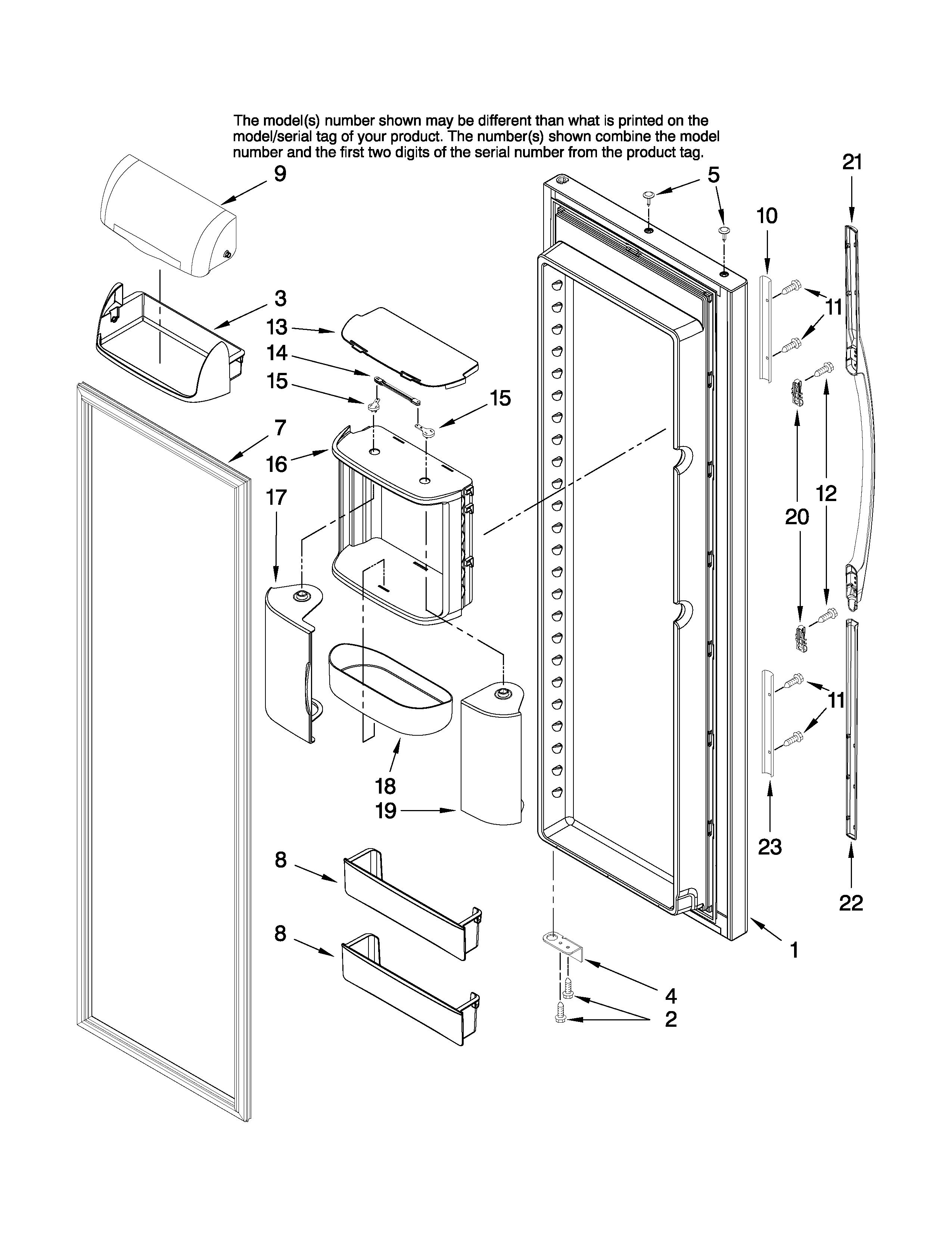 Amana  Refrigerator  Refrigerator door parts