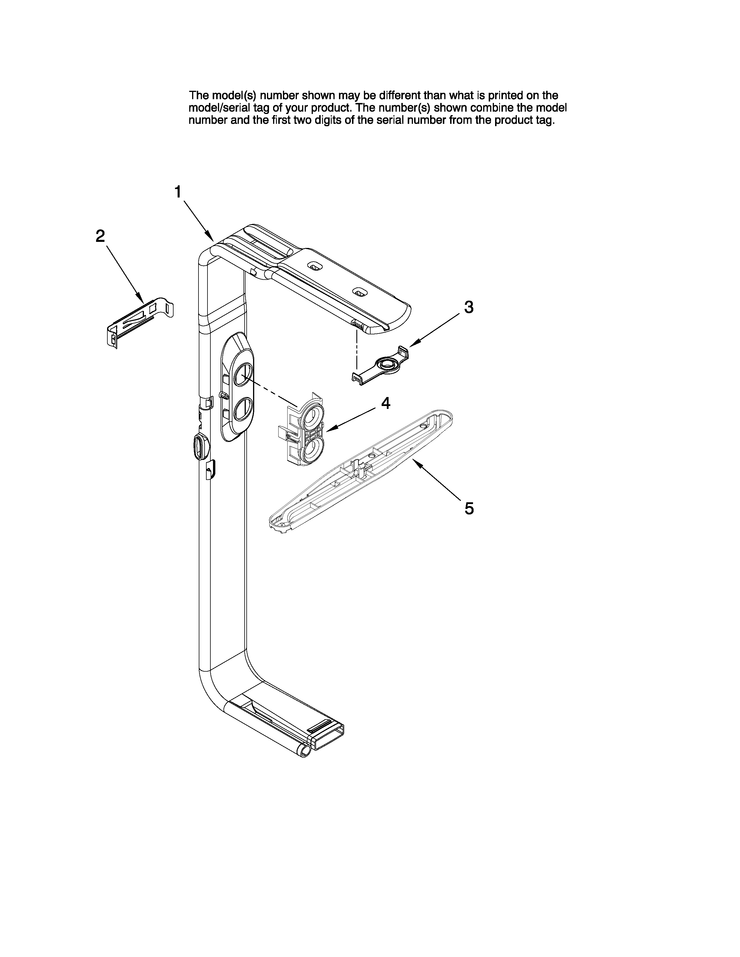 upper wash and rinse parts diagram  u0026 parts list for model