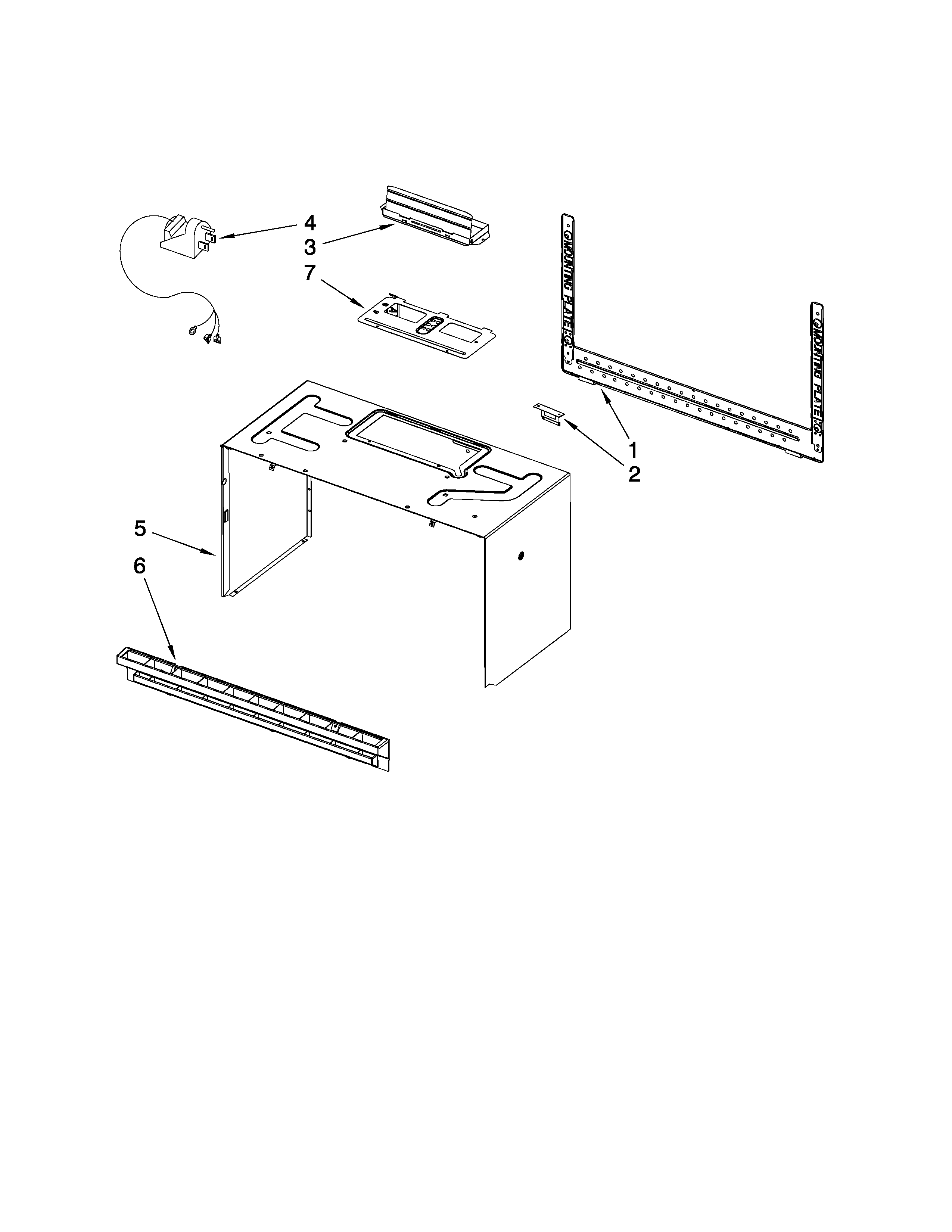 Estate TMH16XSQ4 cabinet and installation parts diagram
