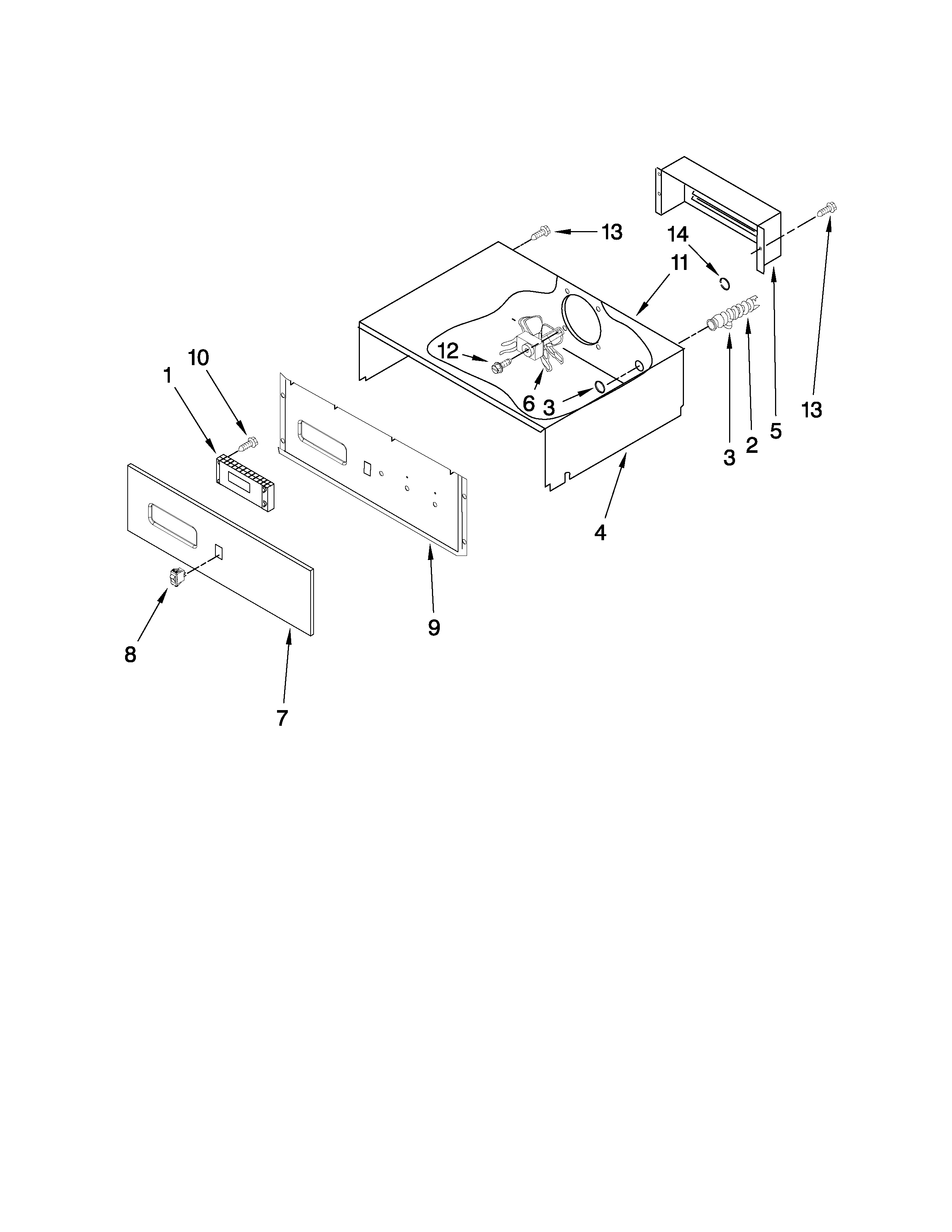 Maytag CWE4800ACE27 control panel parts diagram