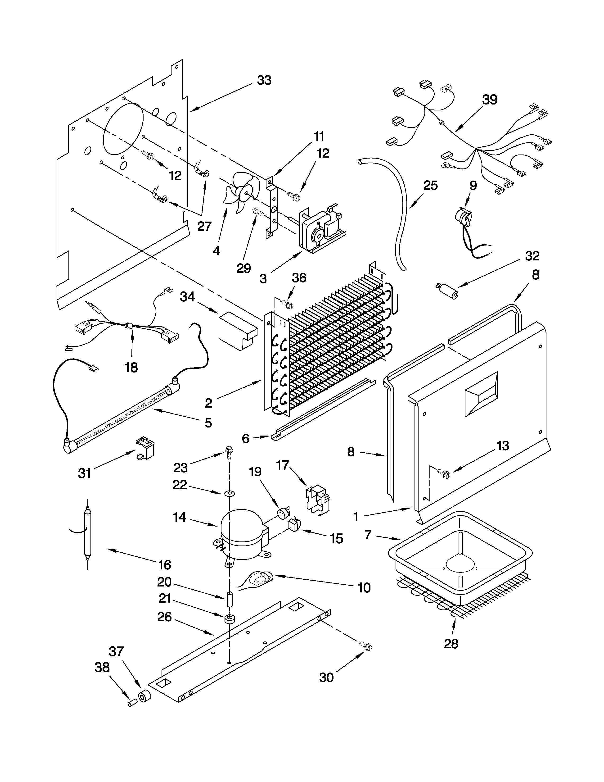 Whirlpool  Vertical Freezer  Unit parts