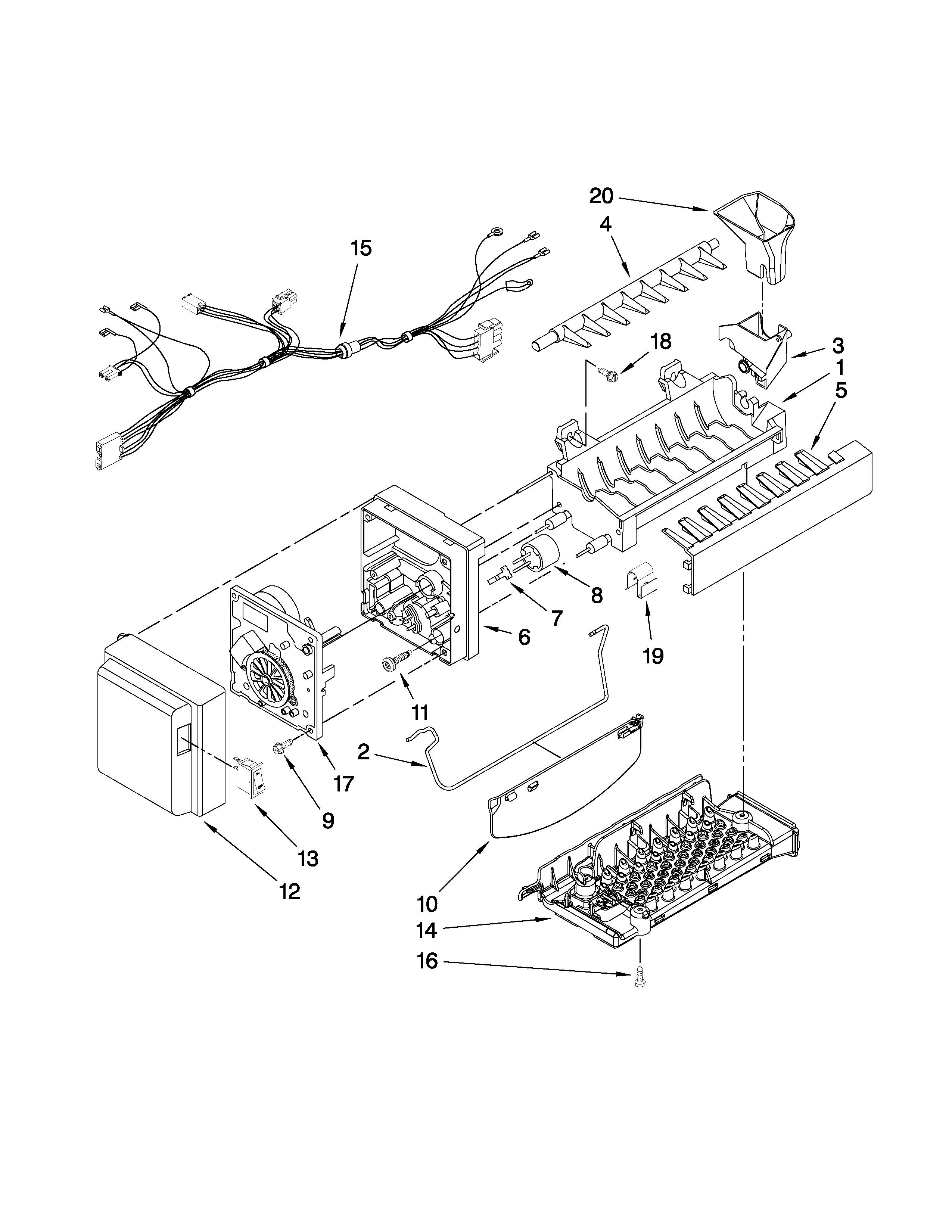 whirlpool refrigerator parts list manual