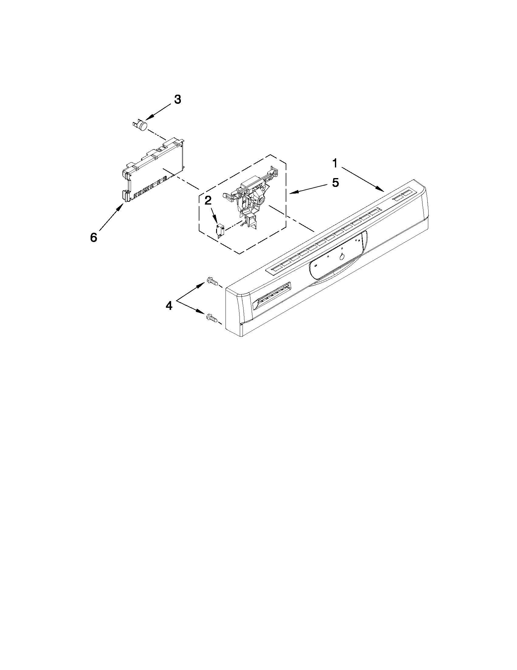 Jenn Air Model Jdb3200aws5 Dishwasher Genuine Parts Computer Diagram