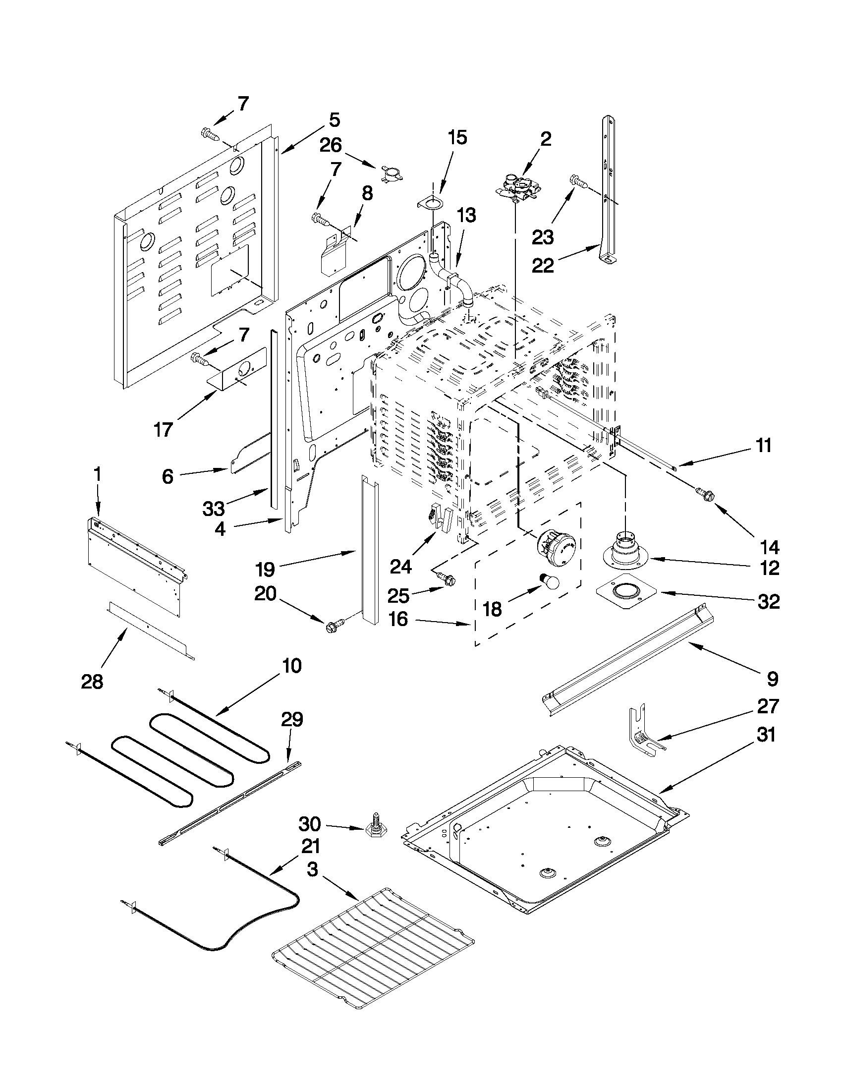 Whirlpool WDE150LVT01 chassis parts diagram