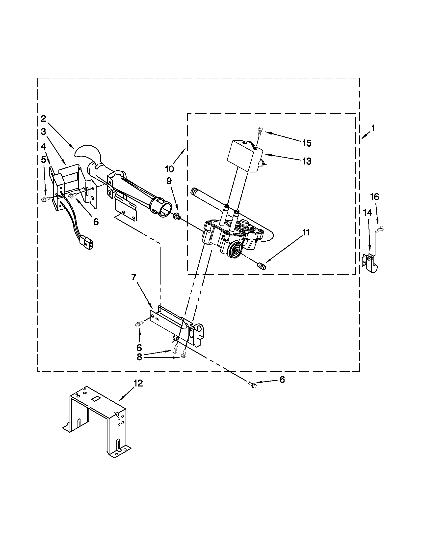 Maytag MGD4200BW0 burner assembly diagram