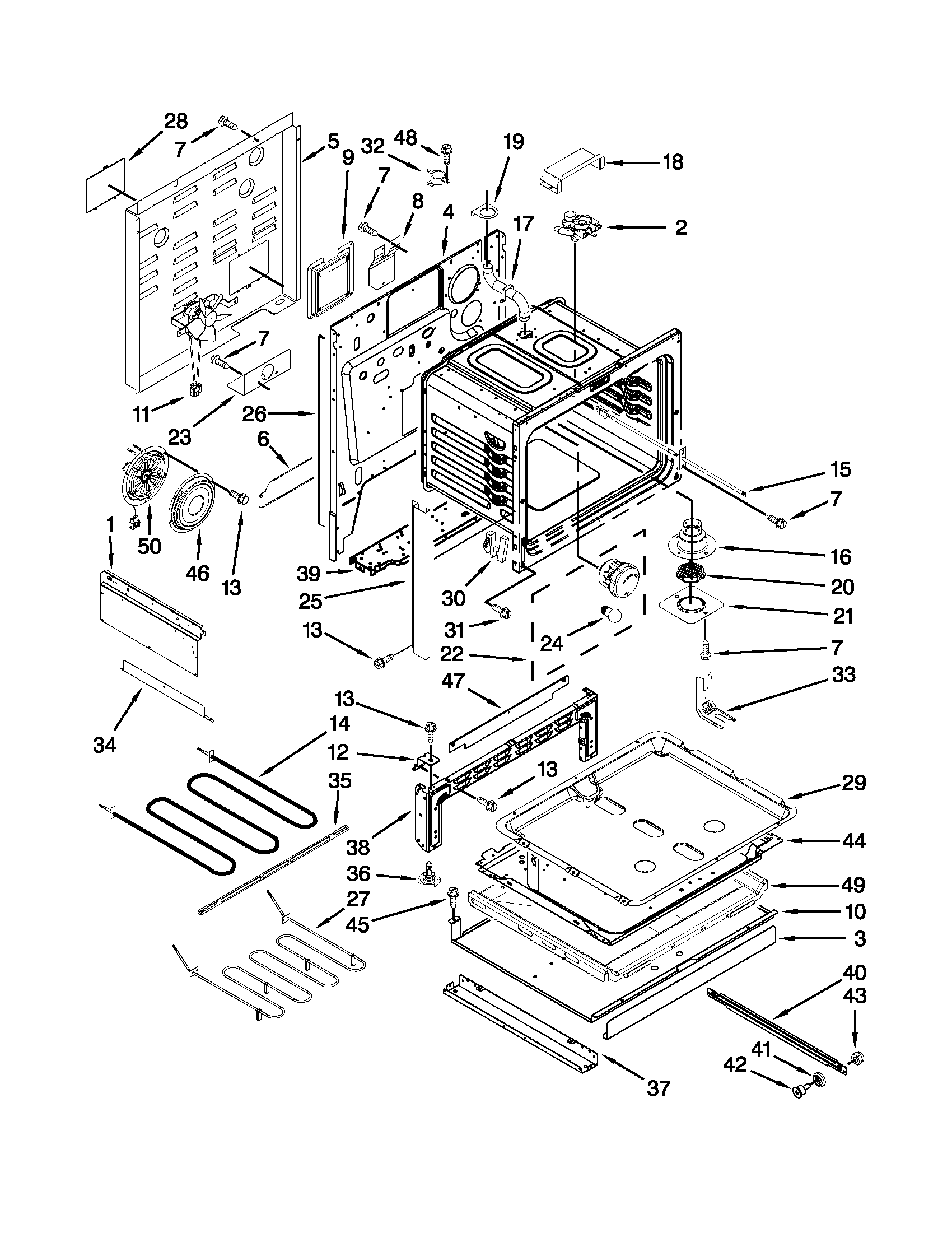 Whirlpool GY399LXUS03 chassis parts diagram