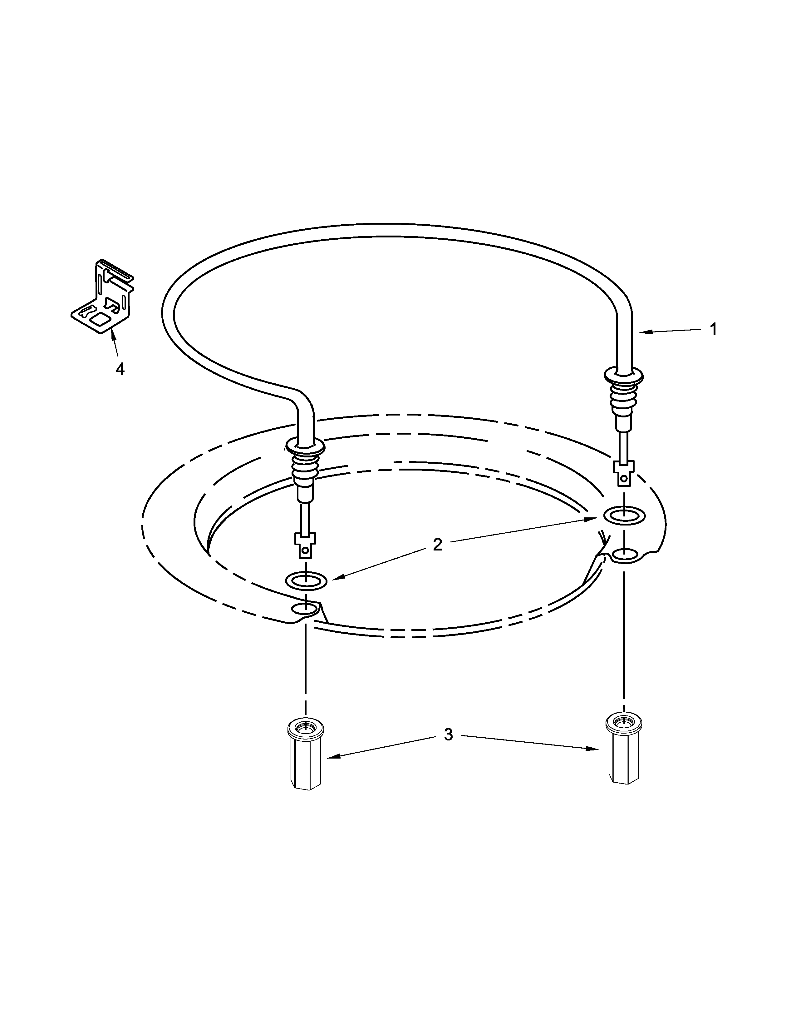 Whirlpool WDP350PAAW4 heater parts diagram