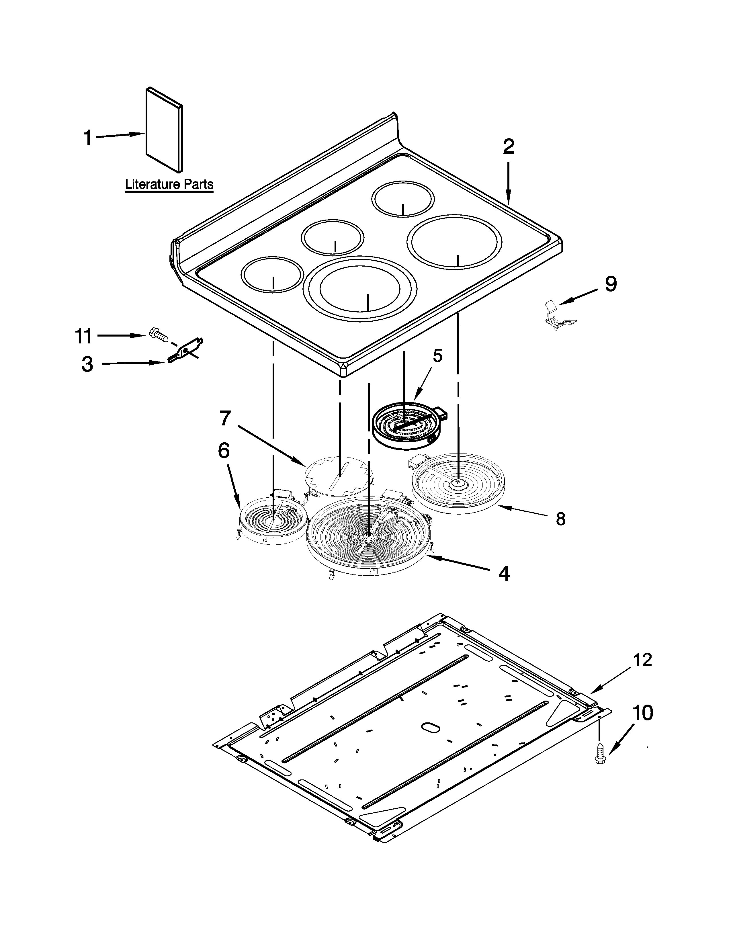 Maytag YMER8775BS0 cooktop parts diagram