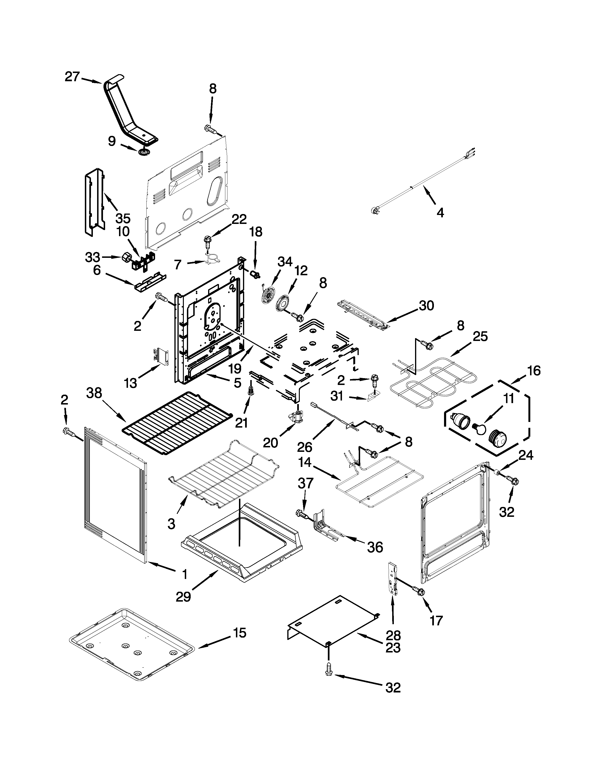 Maytag YMER8775BS0 chassis parts diagram