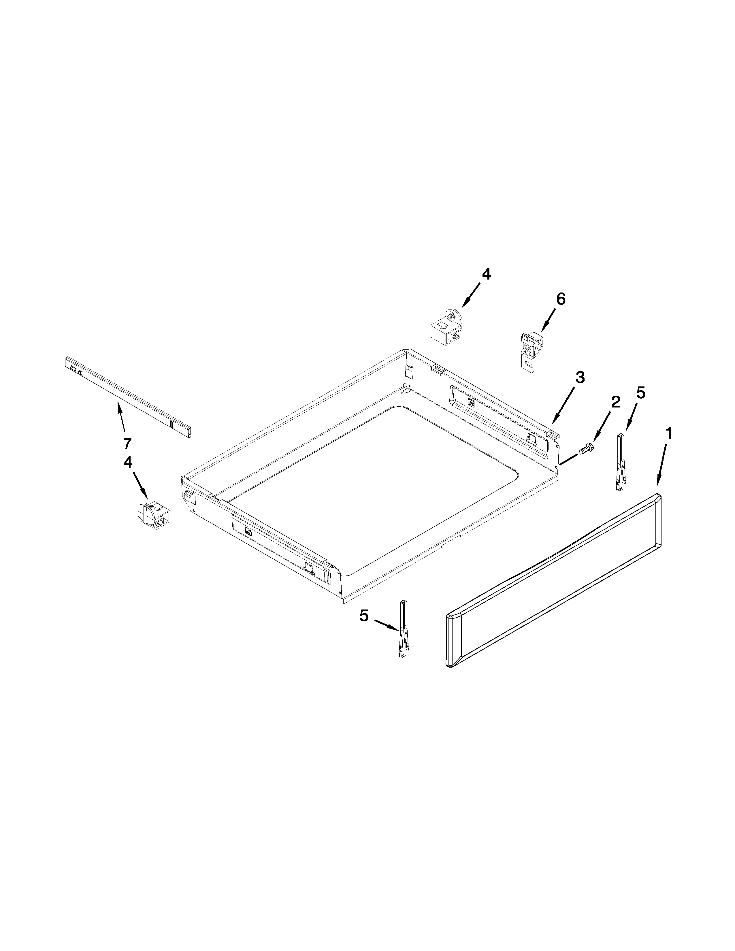Maytag YMER8775BS0 drawer parts diagram