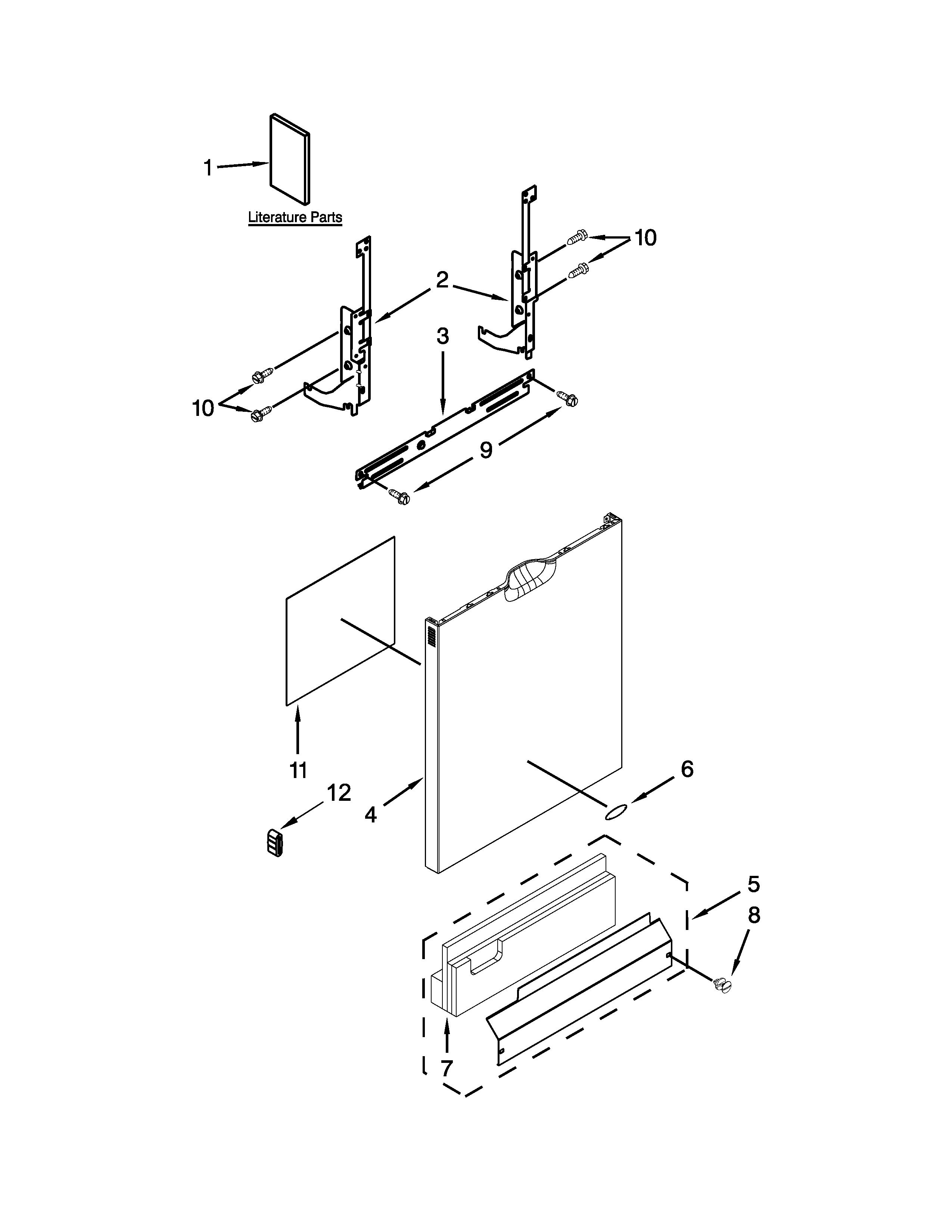 Whirlpool Model Wdf540padb1 Dishwasher Genuine Parts 482493 Defrost Timer Wiring Diagram Door
