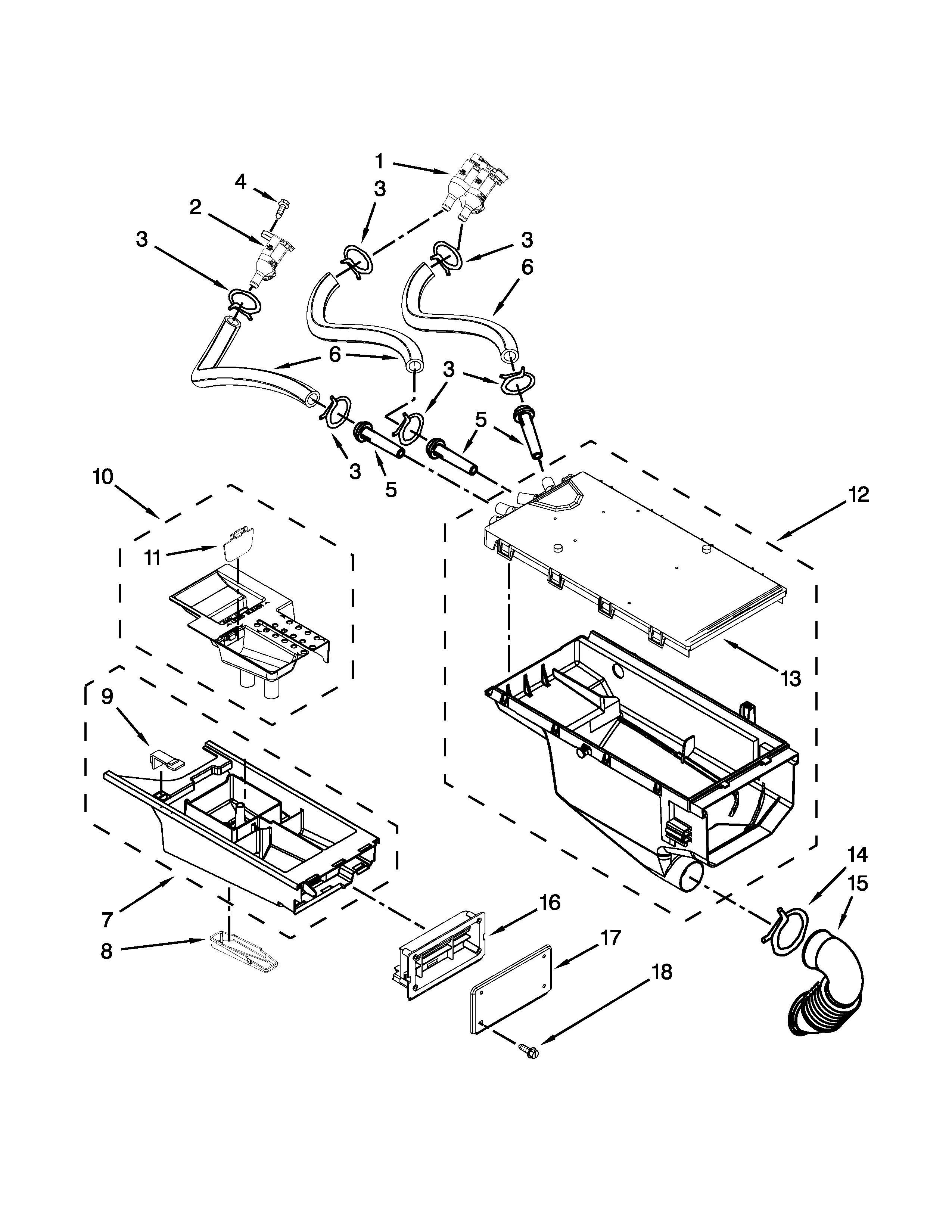 Maytag MLE20PDCYW0 dispenser parts diagram