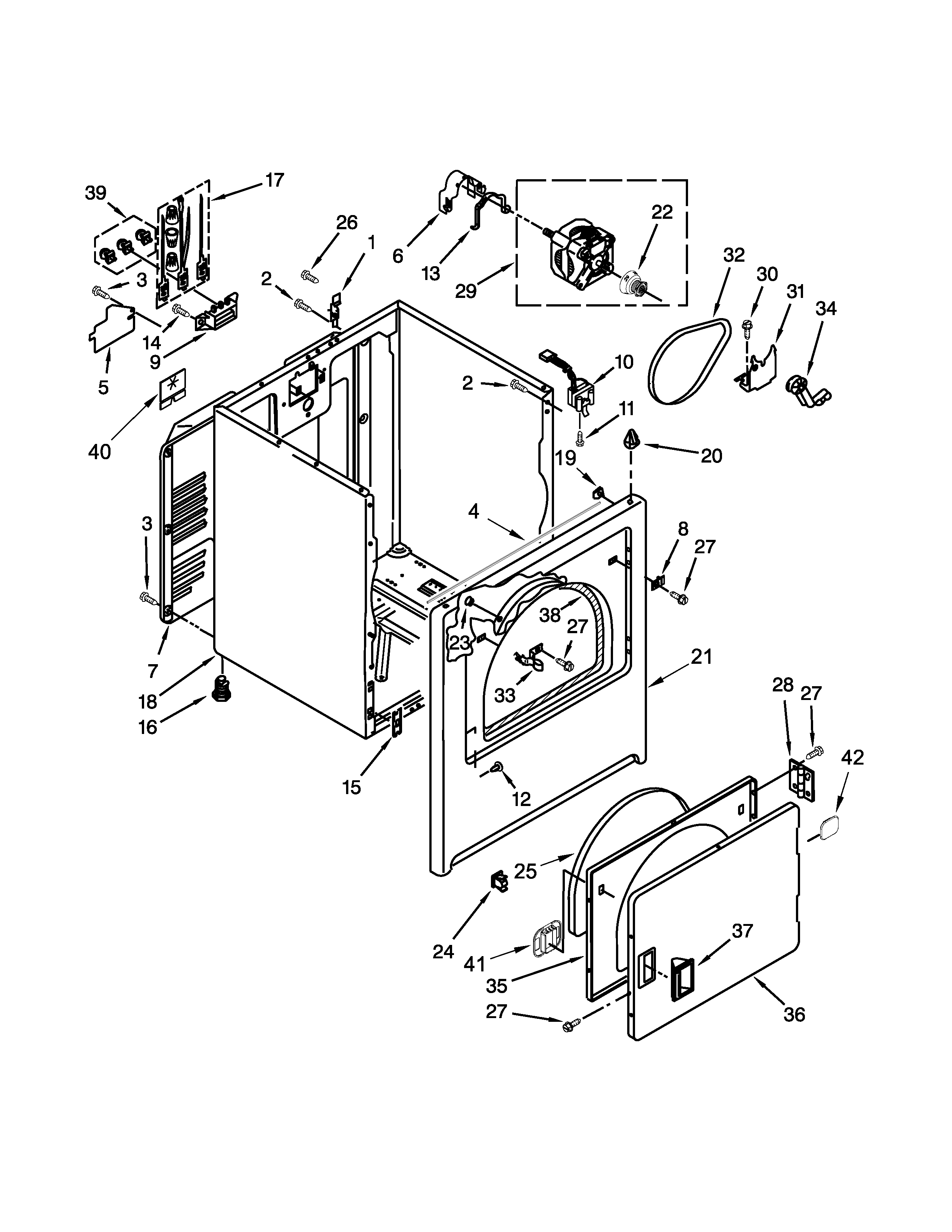amana ned4655ew1 cabinet parts diagram