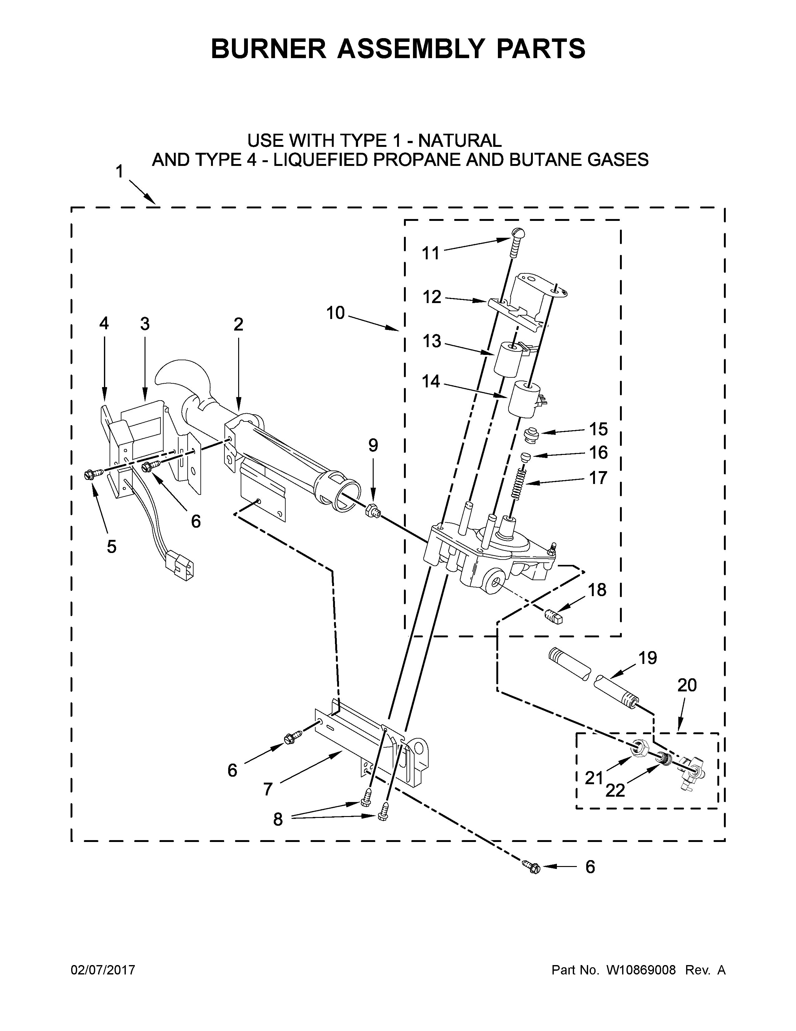 Maytag  Commercial Dryer  Burner assembly parts
