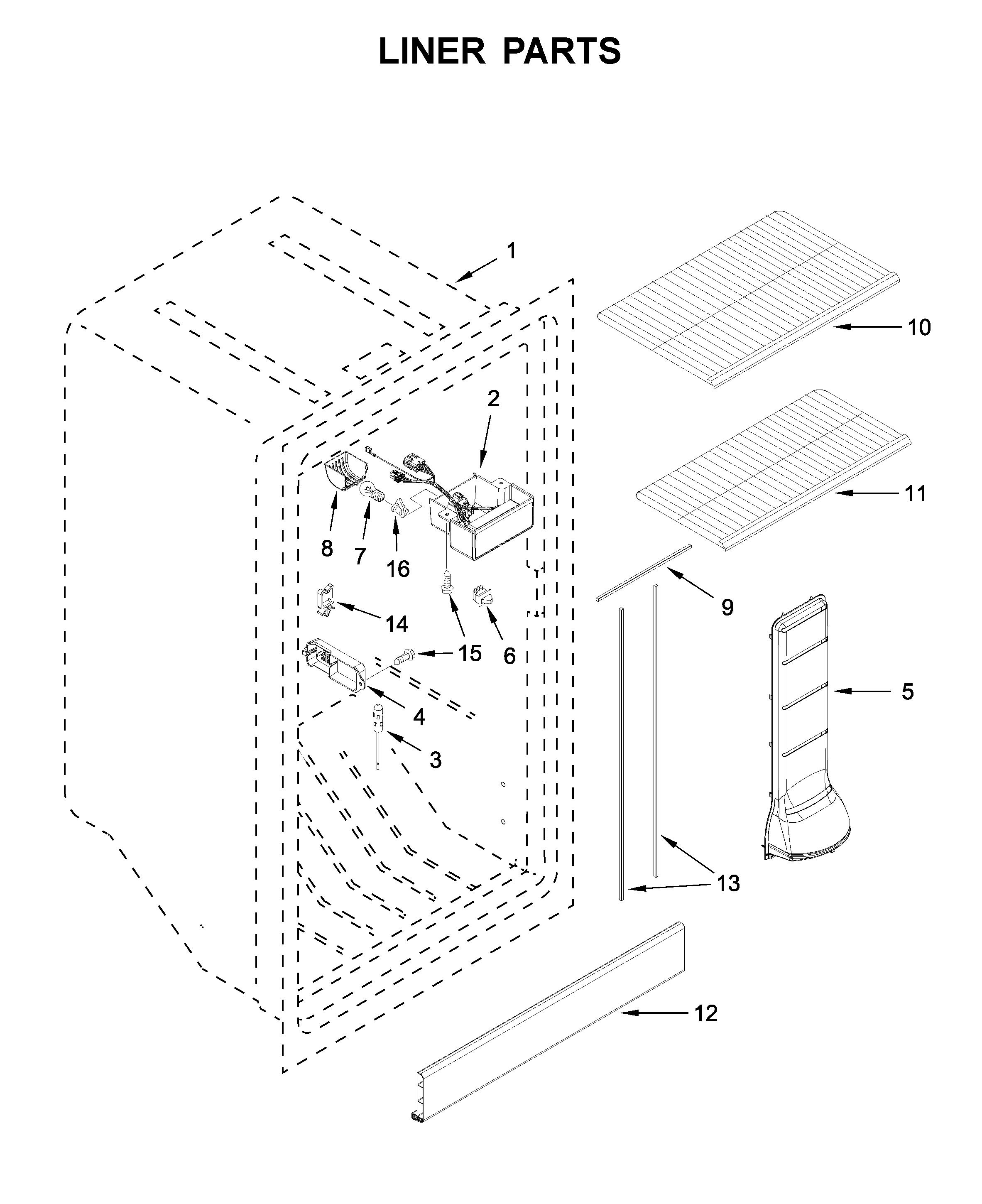 Amana  Upright Freezer  Liner parts
