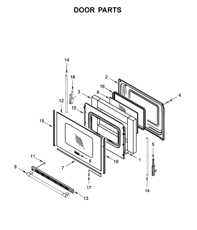 Maytag  Gas Range  Door parts