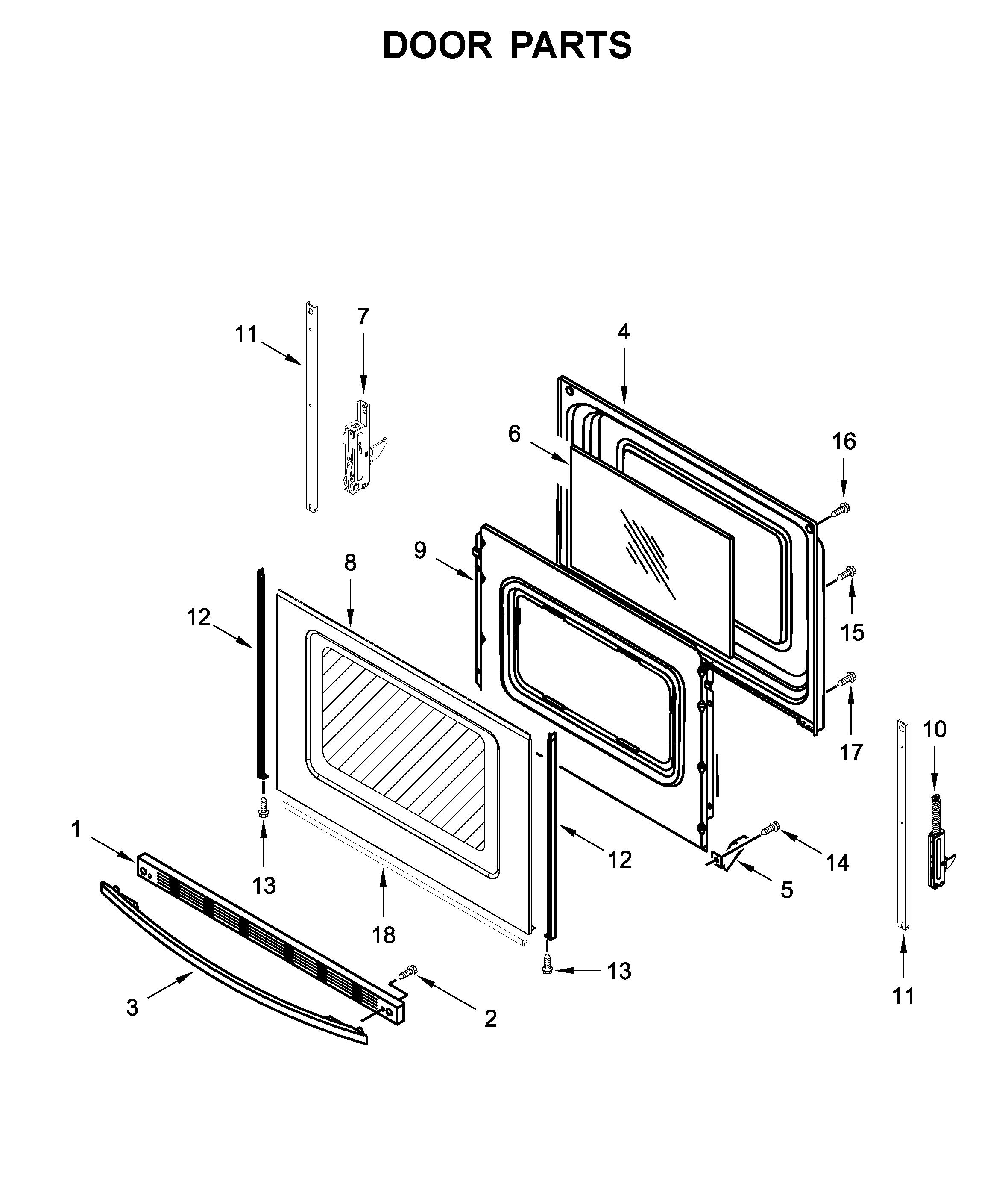 Amana  Free_standing_electric_range  Door parts