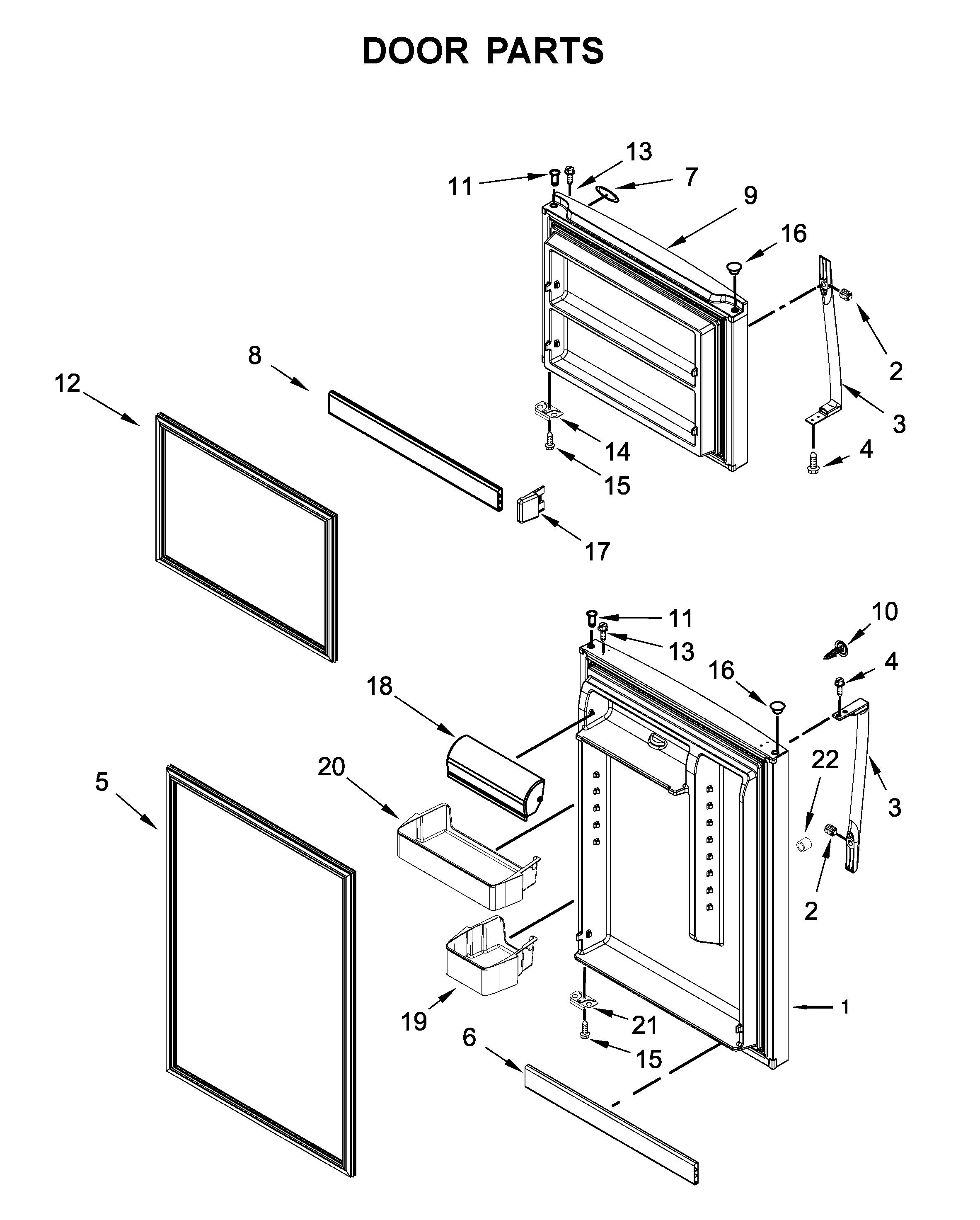 Whirlpool  Refrigerator  Door parts