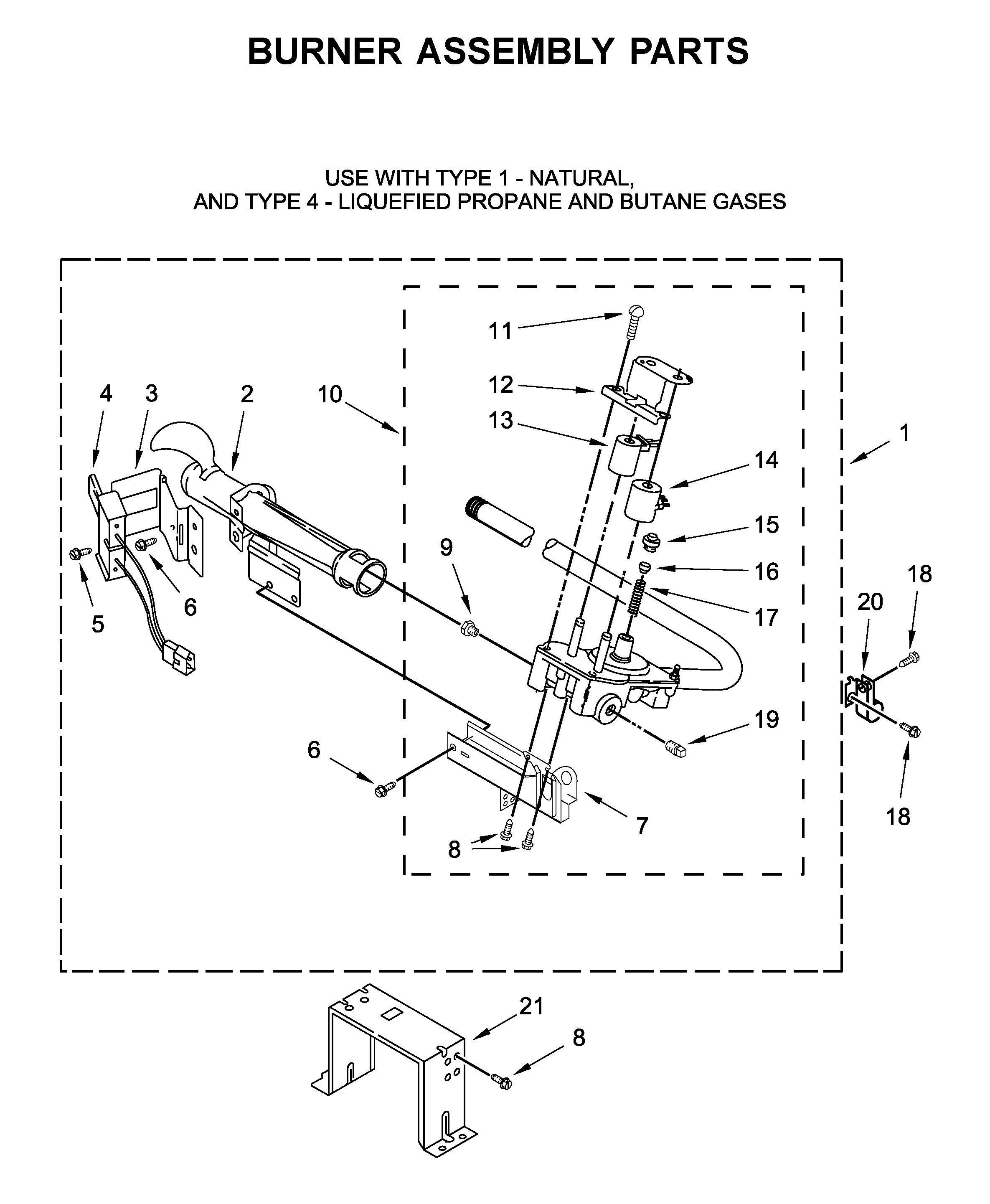 Maytag  Dryer  Burner assembly parts