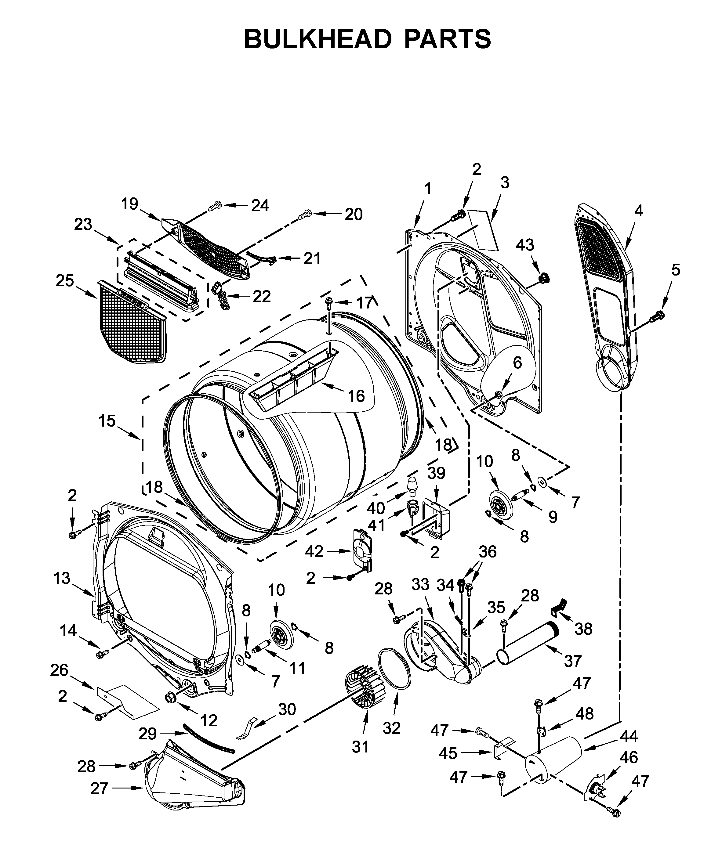 Whirlpool  Dryer  Bulkhead parts