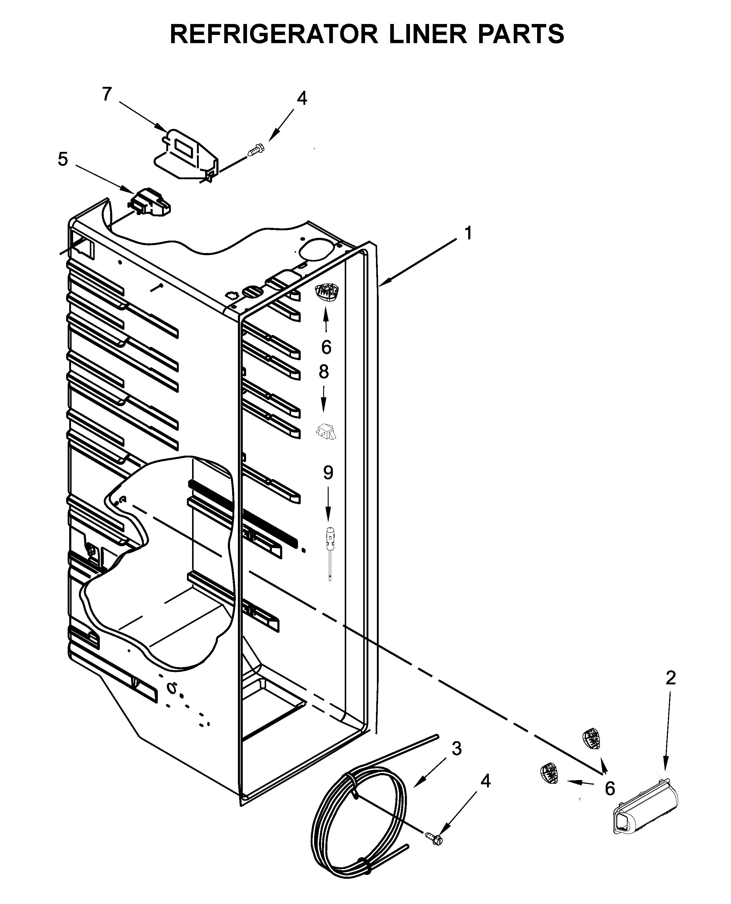 Whirlpool  Refrigerator  Refrigerator liner parts