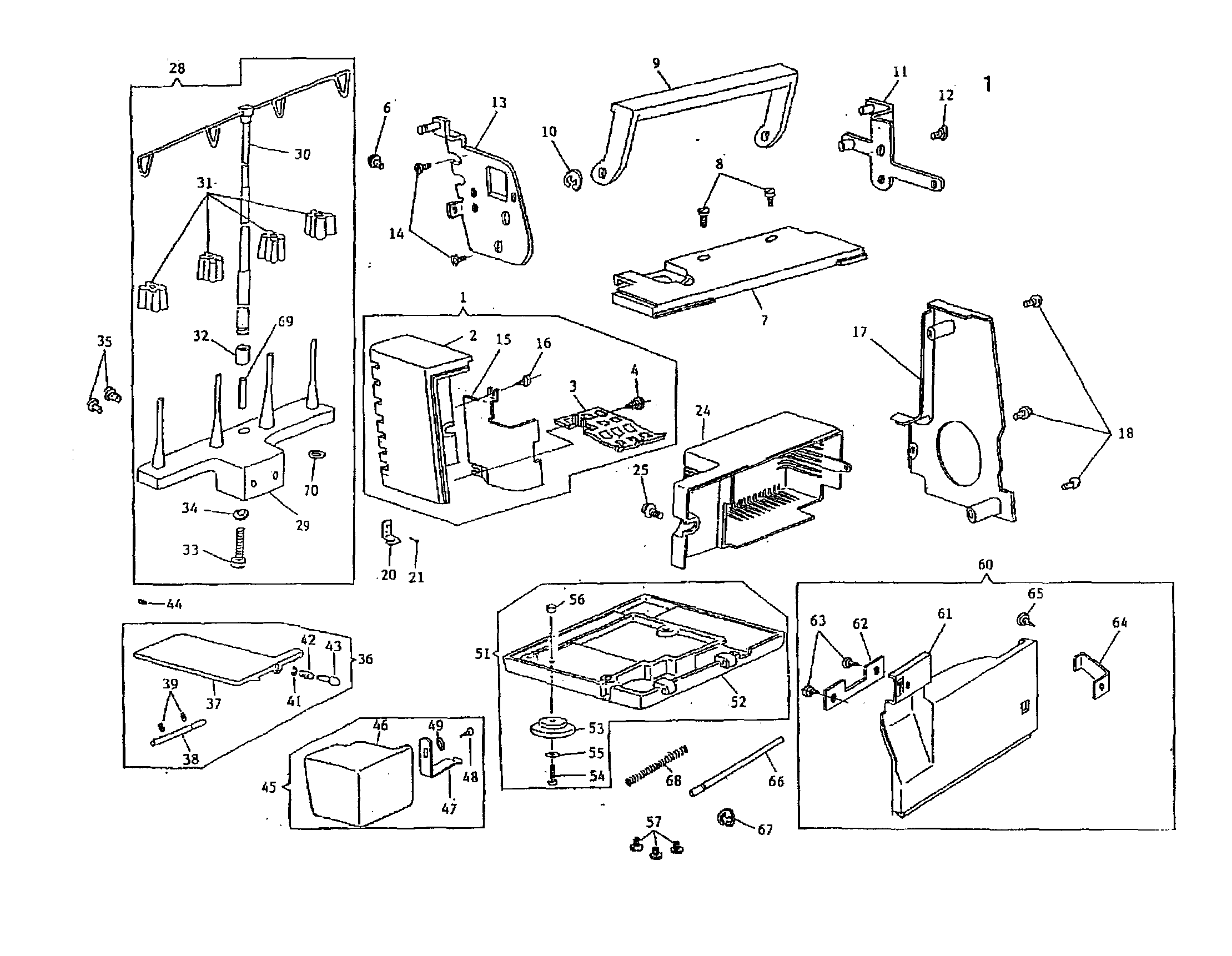 Washing Machine Parts Diagram