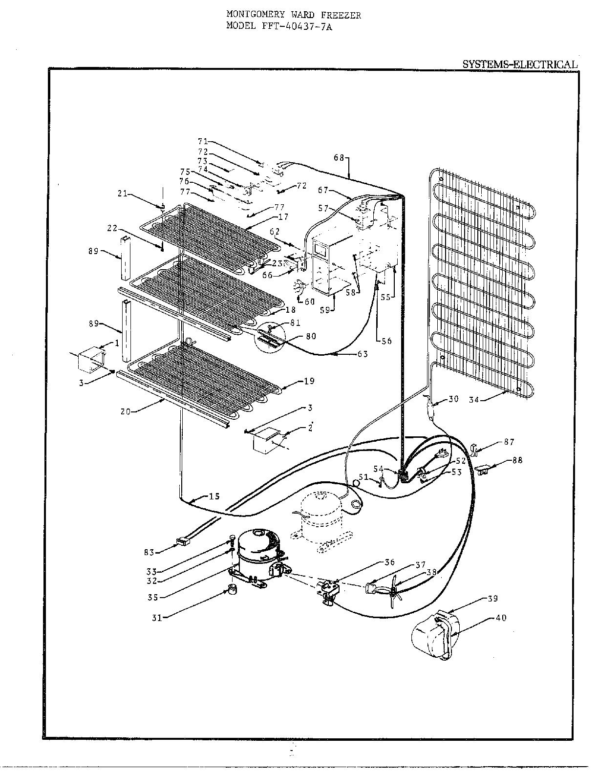 Frigidaire  Freezer  Electrical