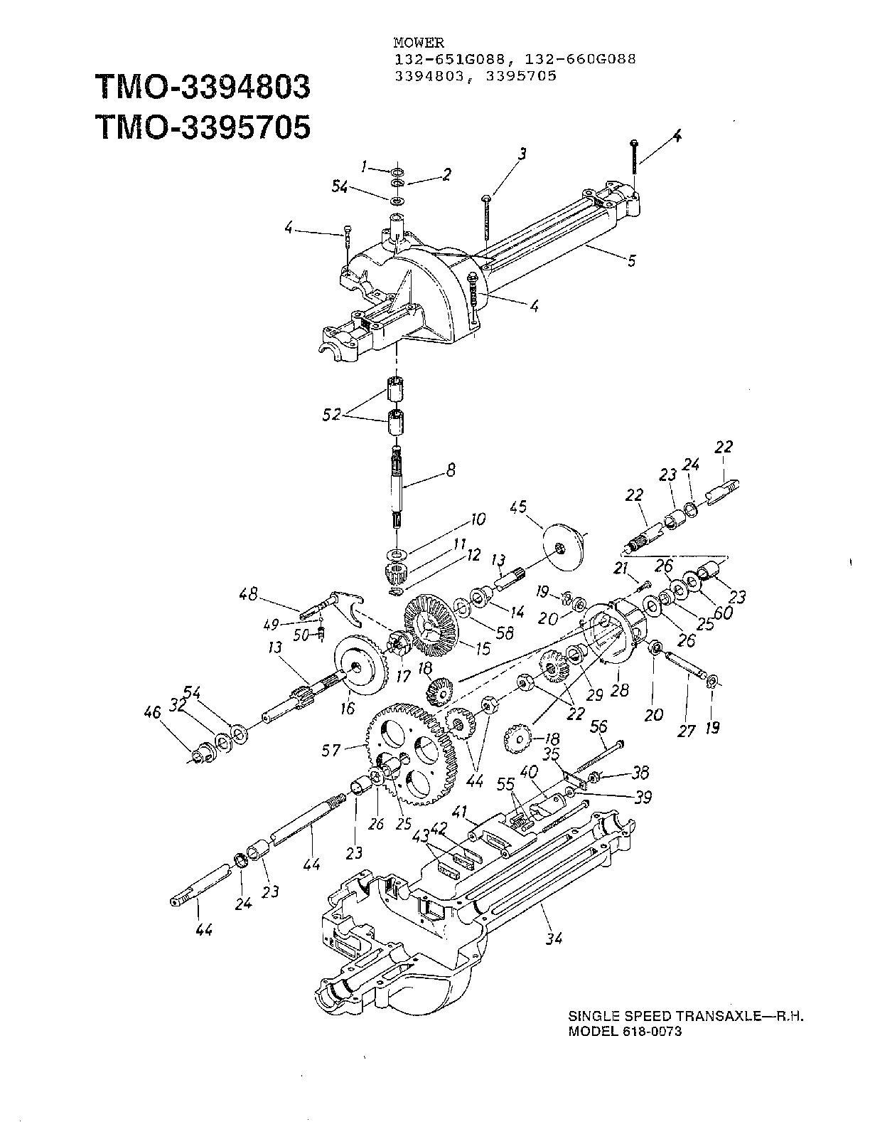 Mtd  Lawn Mower  Single speed transaxle-r