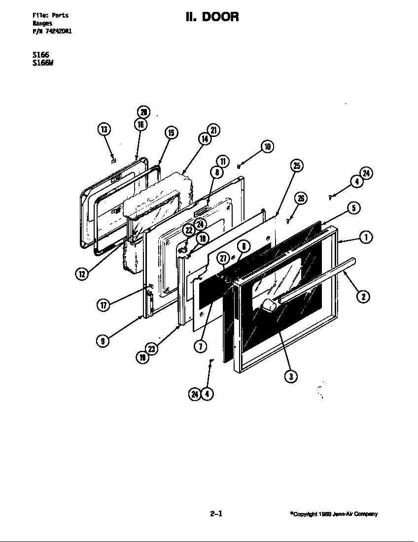 Jenn-Air  Electric Range  Door