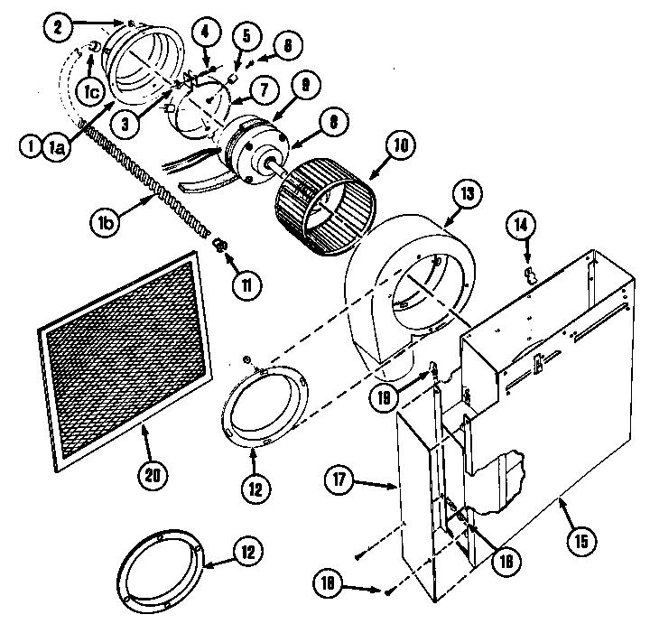 Jenn-Air  Electric Grill  Blower plenum