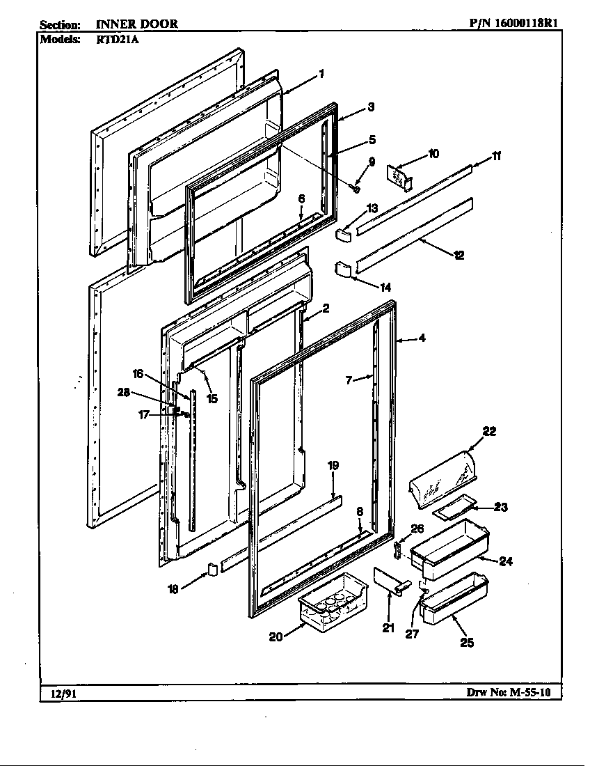 Maytag  Maytag Refrigeration  Inner door