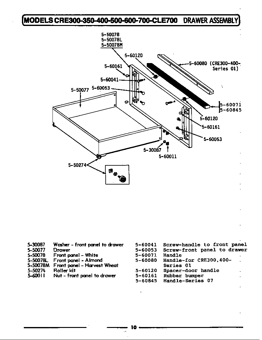 Maytag GCRE682 drawer assembly diagram
