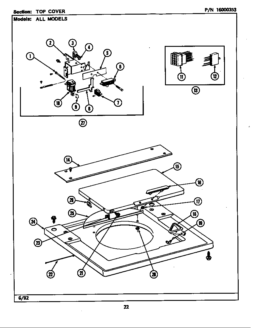 Maytag LSG9900AAL top cover (lse9900ael,aew) (lse9900acl) (lse9900acw) (lse9900adl) (lse9900ace) (lse9900ade) diagram
