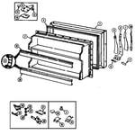 Magic Chef RB192PW/DE71A freezer door diagram