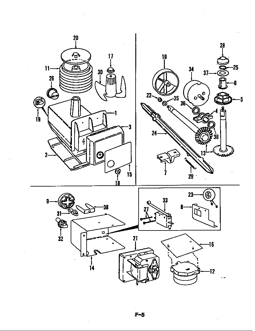 Magic Chef RB22EA-3AI/5B58A ice cream maker diagram